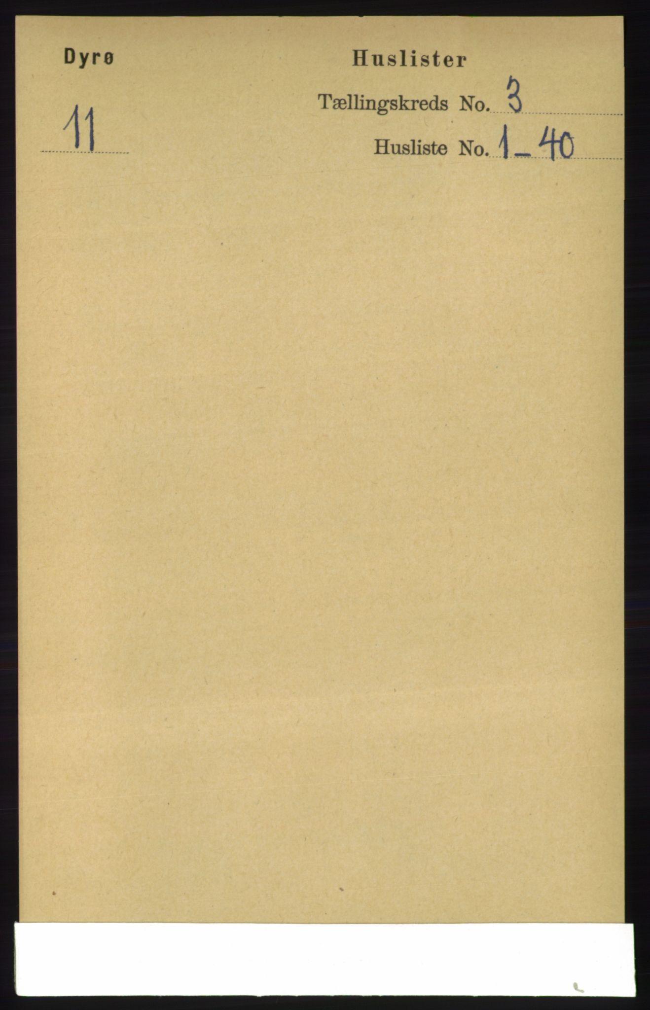 RA, Folketelling 1891 for 1926 Dyrøy herred, 1891, s. 1104