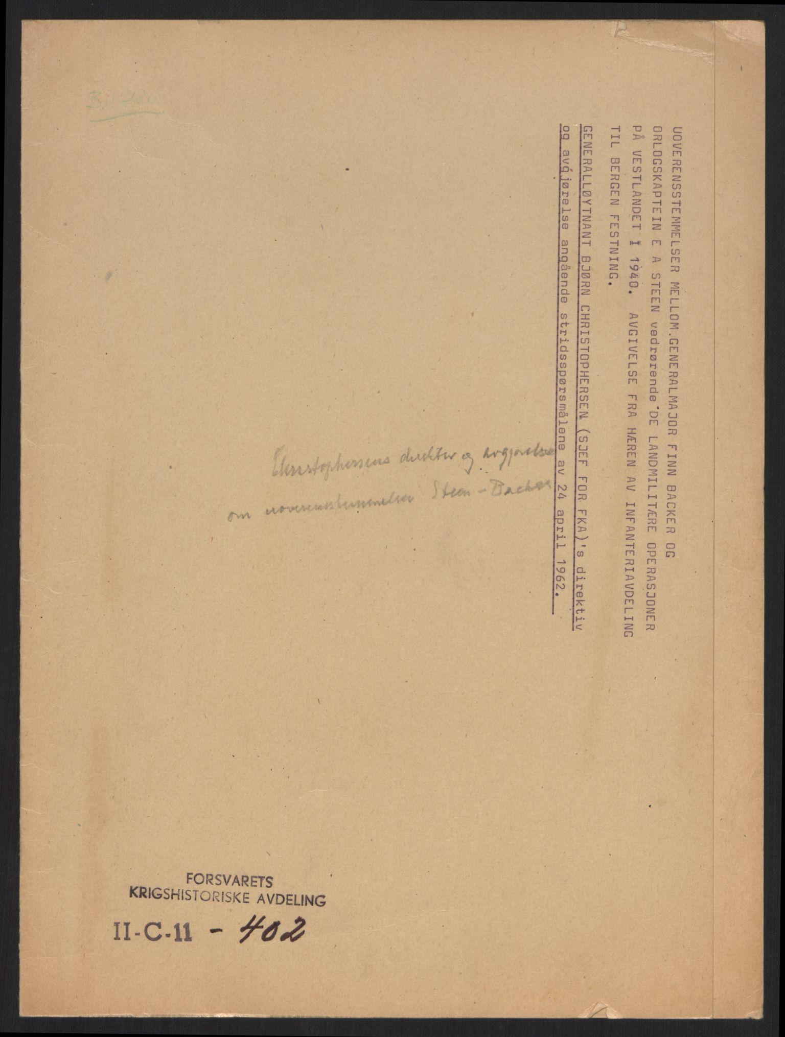 RA, Forsvaret, Forsvarets krigshistoriske avdeling, Y/Yb/L0100: II-C-11-401-402  -  4. Divisjon., 1940-1962, s. 710