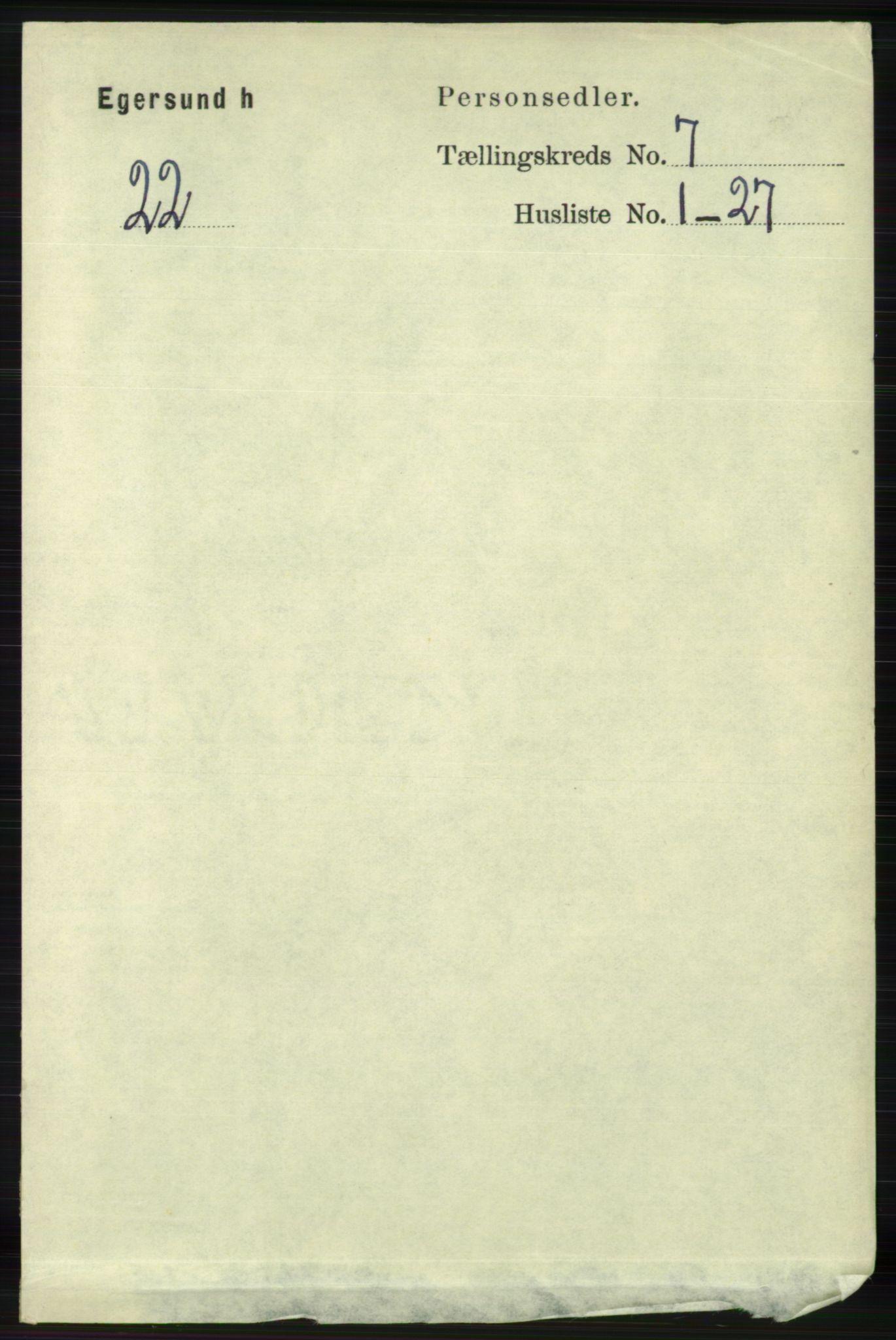 RA, Folketelling 1891 for 1116 Eigersund herred, 1891, s. 2830