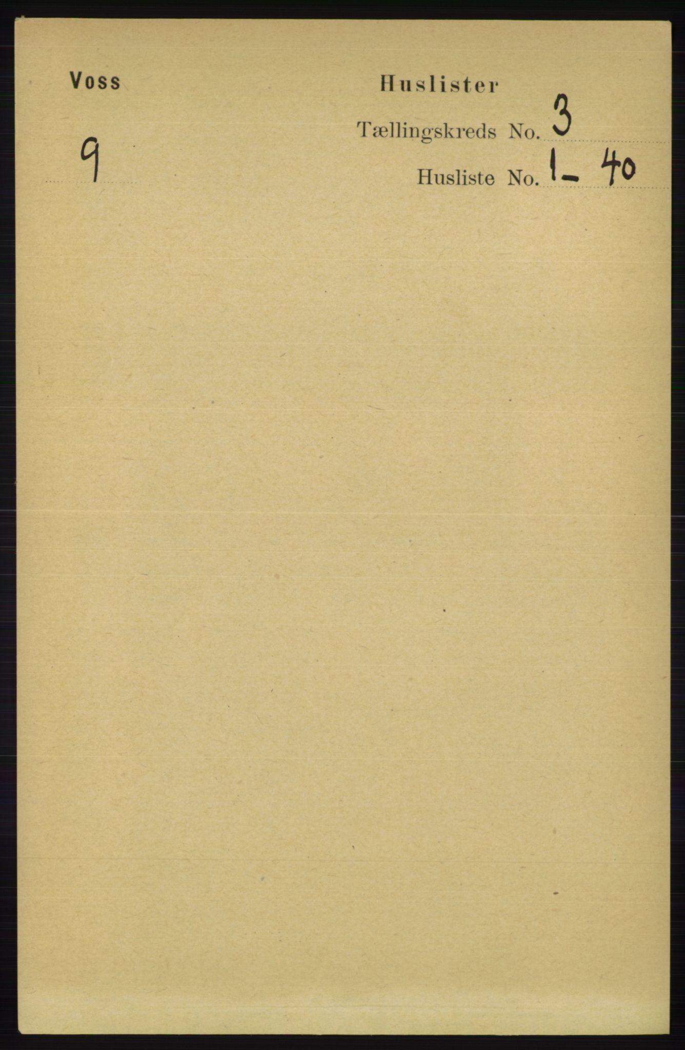 RA, Folketelling 1891 for 1235 Voss herred, 1891, s. 1132