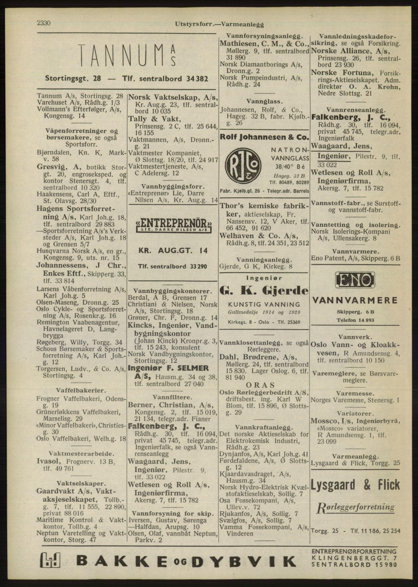 RA, Oslo adressebok (publikasjon)*, 1946, s. 2330