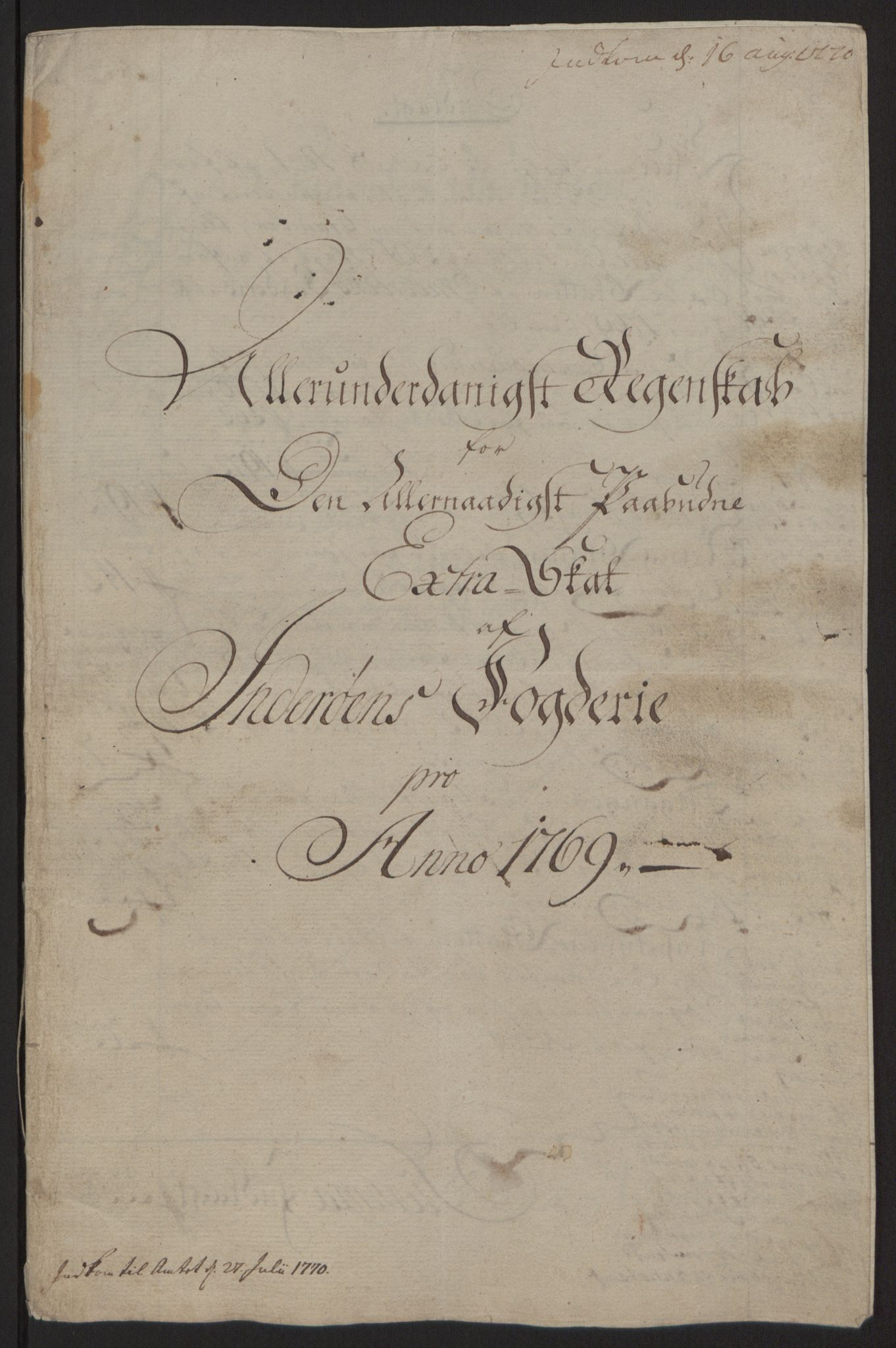 RA, Rentekammeret inntil 1814, Reviderte regnskaper, Fogderegnskap, R63/L4420: Ekstraskatten Inderøy, 1762-1772, s. 342
