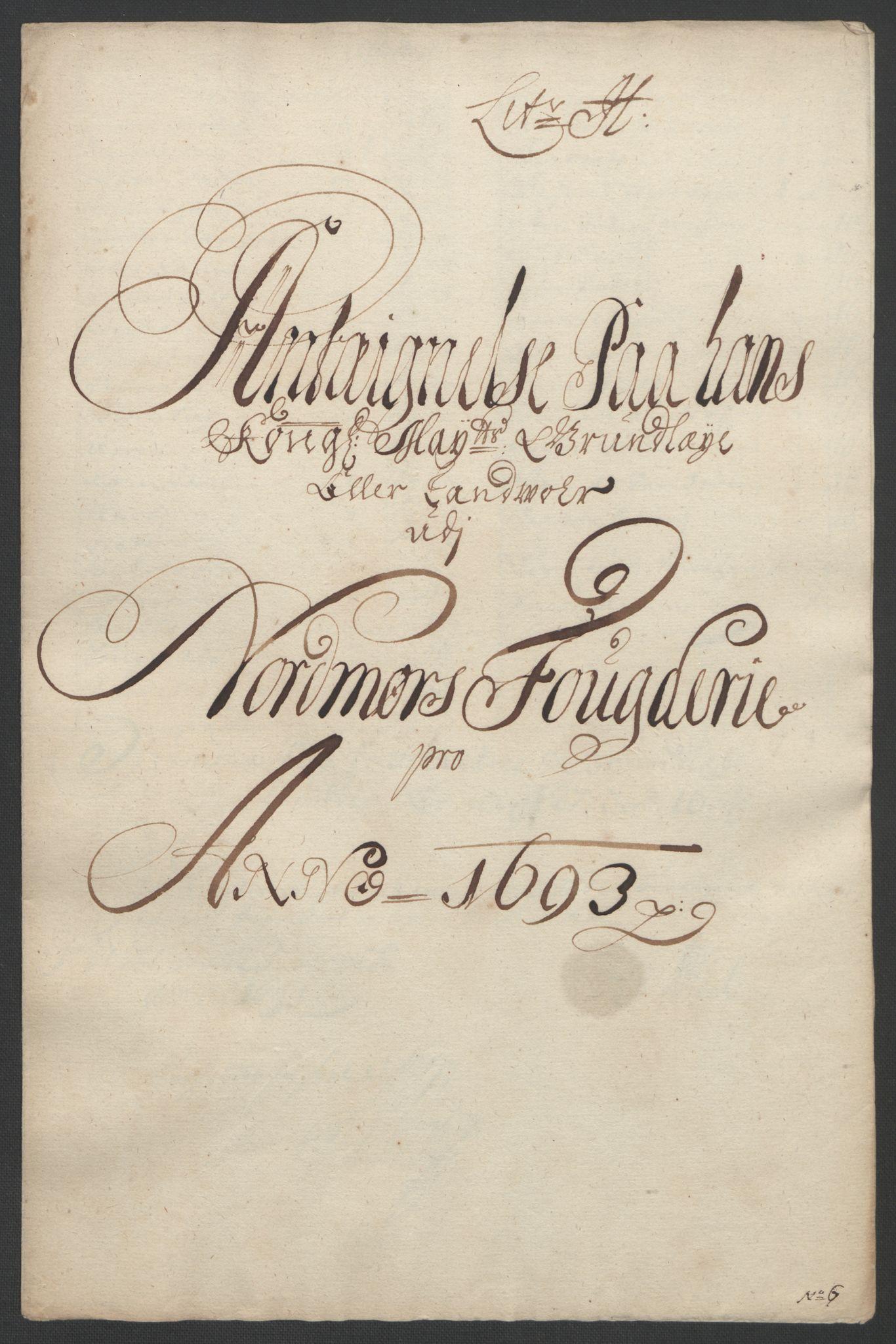 RA, Rentekammeret inntil 1814, Reviderte regnskaper, Fogderegnskap, R56/L3735: Fogderegnskap Nordmøre, 1692-1693, s. 367