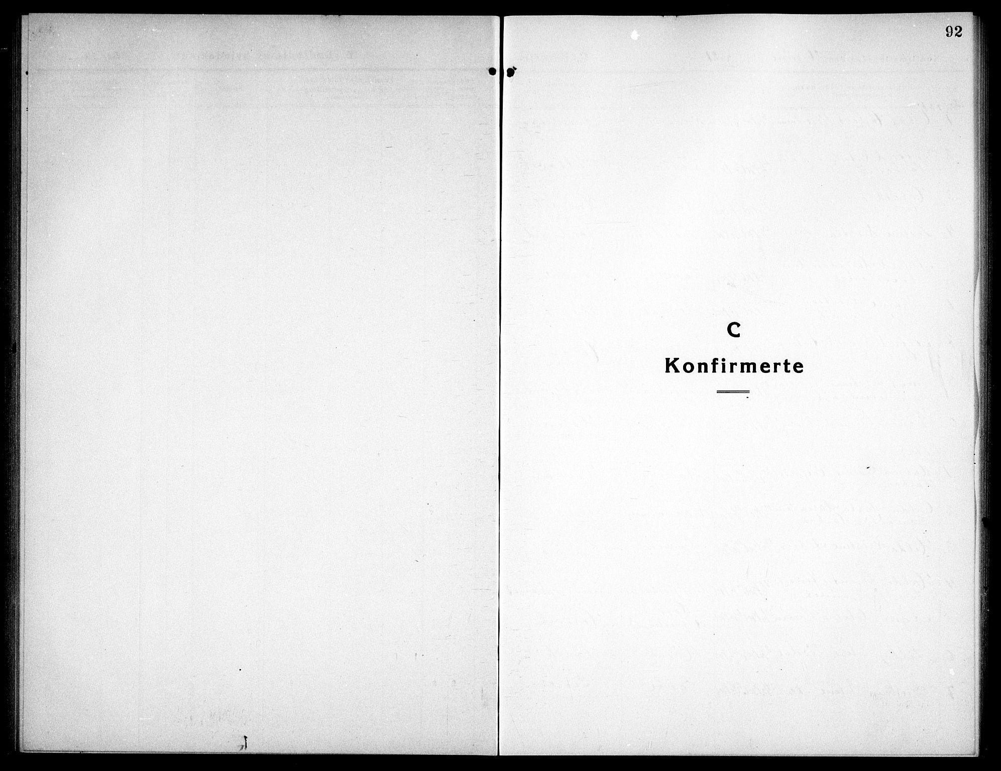 SAT, Ministerialprotokoller, klokkerbøker og fødselsregistre - Sør-Trøndelag, 656/L0696: Klokkerbok nr. 656C02, 1921-1937, s. 92