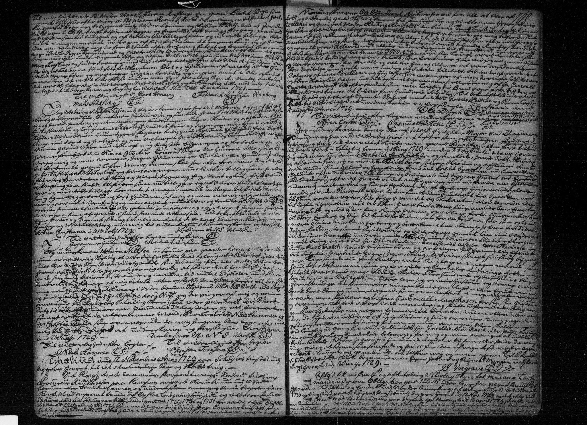 SAO, Aker sorenskriveri, G/Gb/Gba/L0001: Pantebok nr. I 1, 1710-1740, s. 198