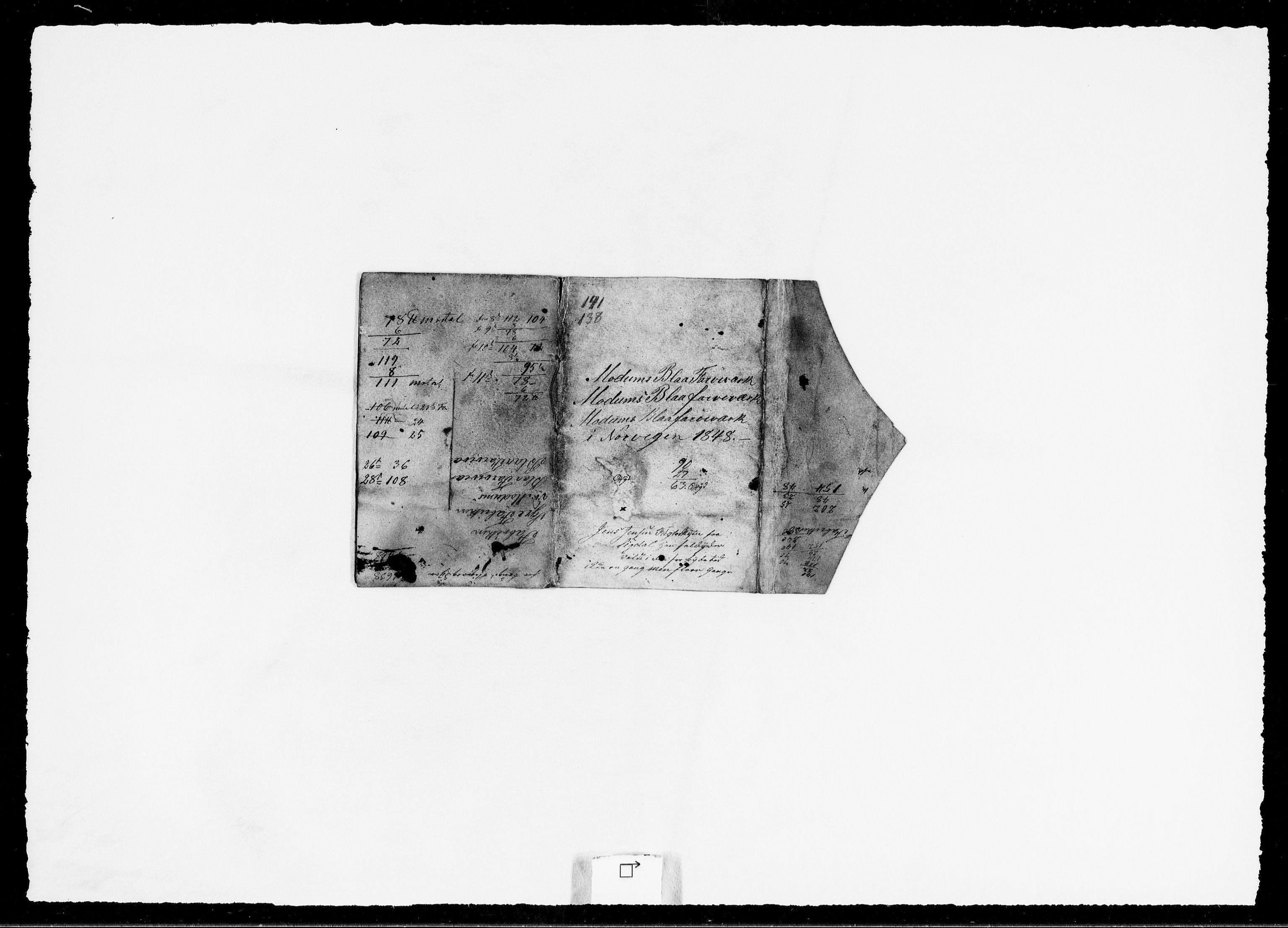 RA, Modums Blaafarveværk, G/Ge/L0362, 1822-1851, s. 2