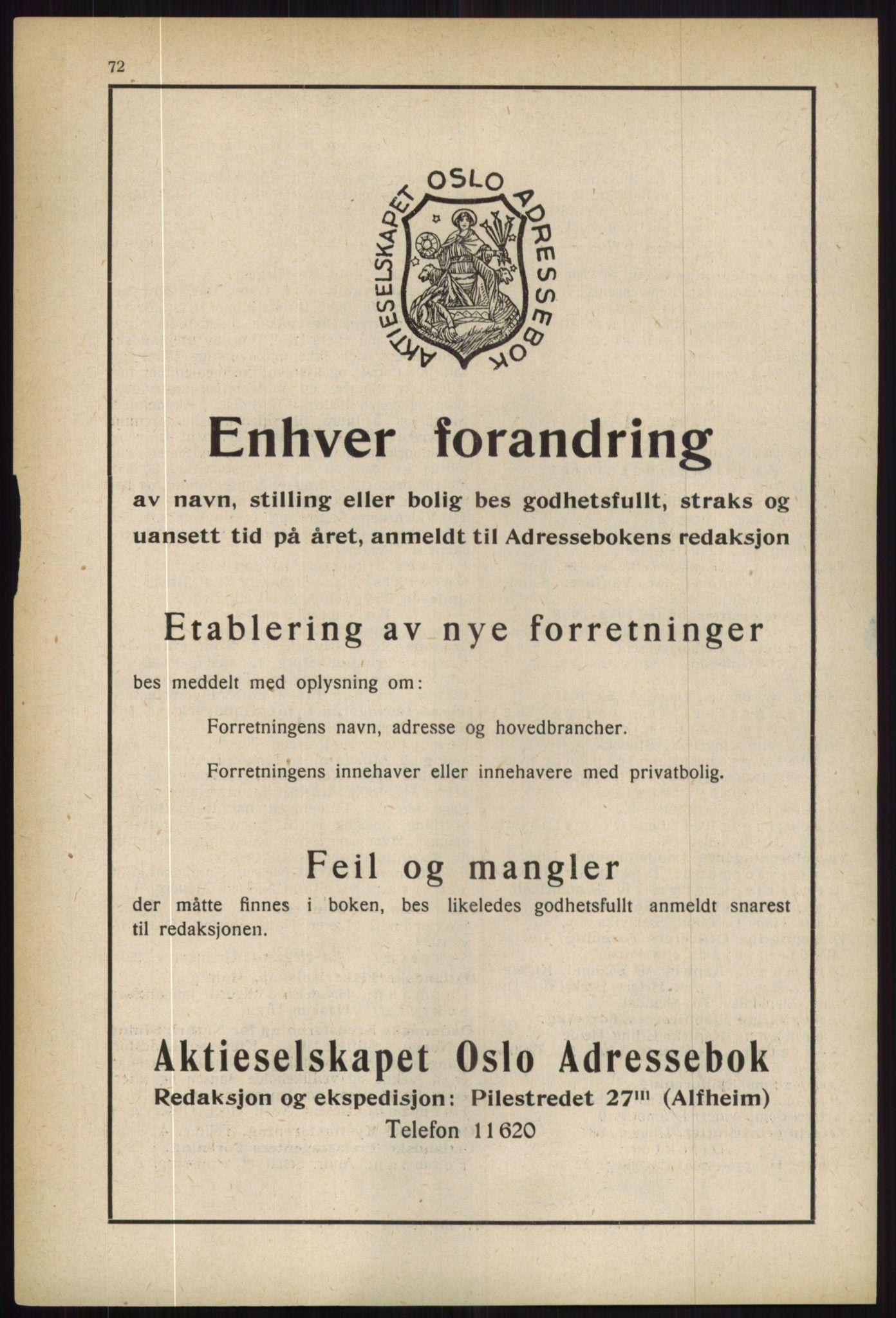 RA, Oslo adressebok (publikasjon)*, 1936, s. 72