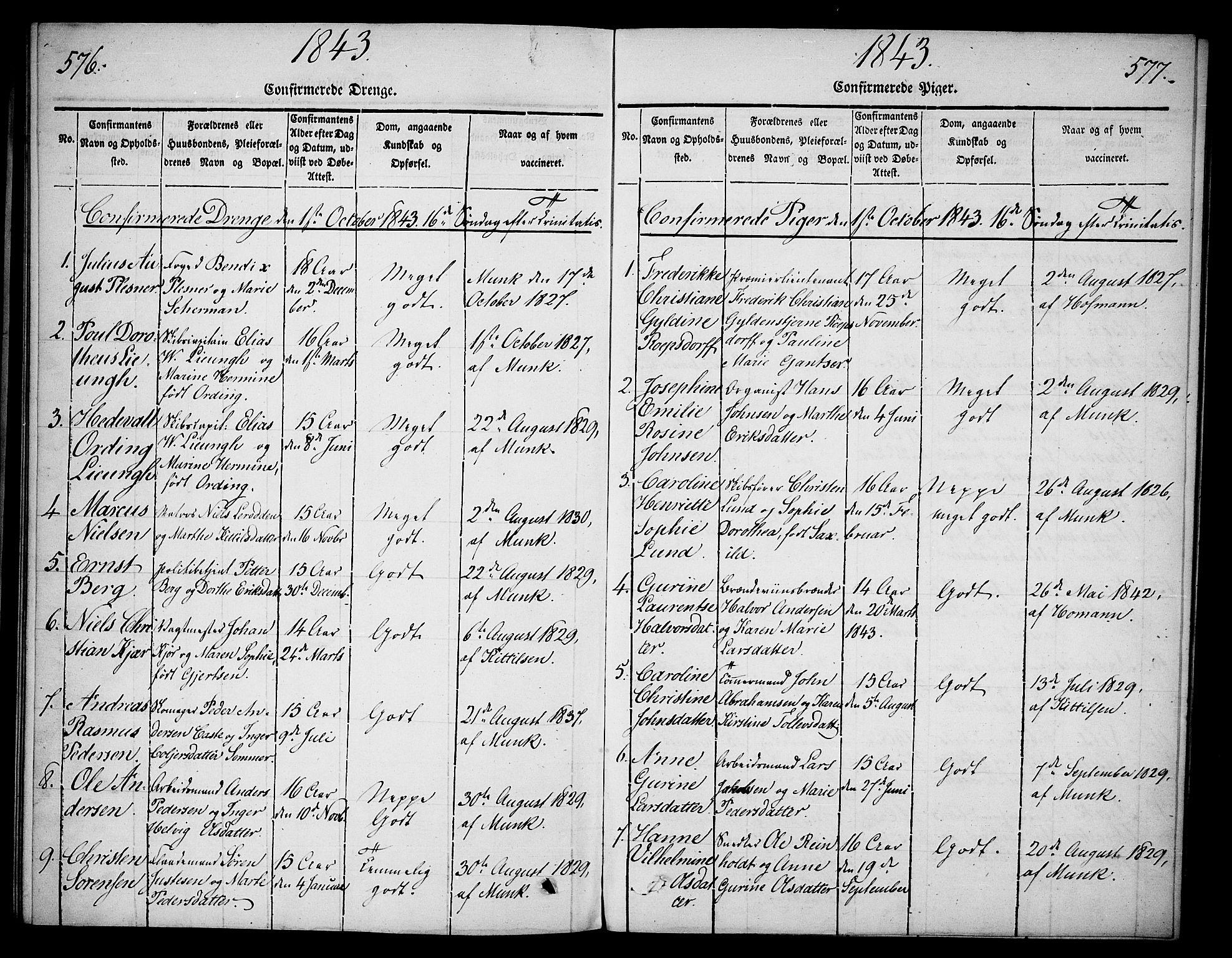 SAKO, Skien kirkebøker, G/Ga/L0003: Klokkerbok nr. 3, 1843-1847, s. 576-577