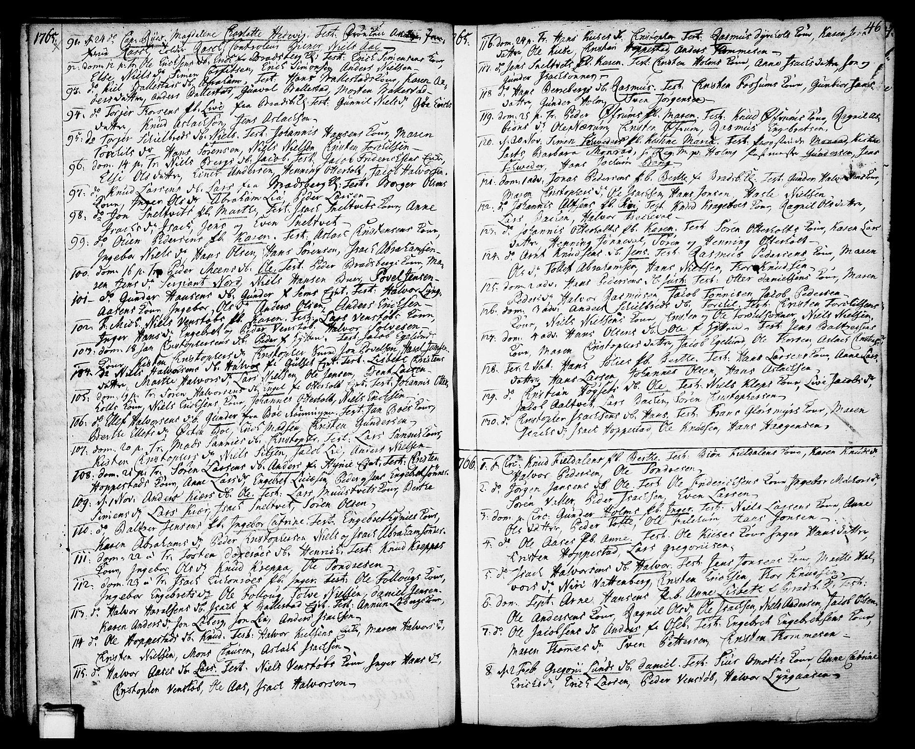 SAKO, Gjerpen kirkebøker, F/Fa/L0002: Ministerialbok nr. 2, 1747-1795, s. 46