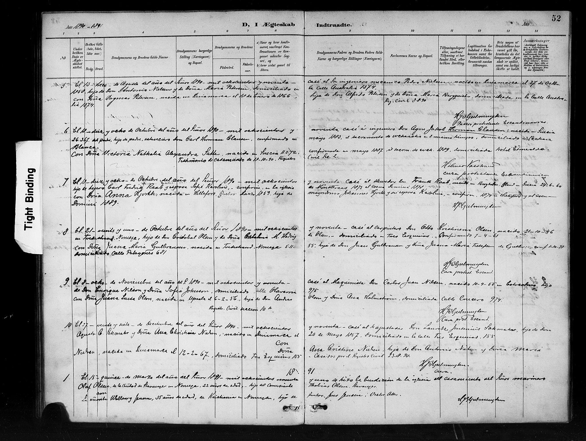 SAB, Den Norske Sjømannsmisjon i utlandet*, Ministerialbok nr. A 1, 1888-1898, s. 52