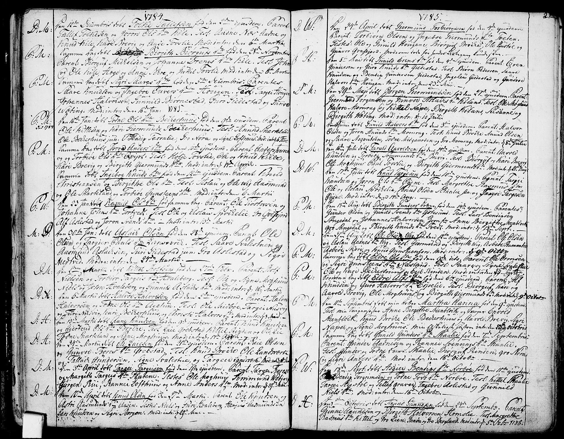 SAKO, Fyresdal kirkebøker, F/Fa/L0002: Ministerialbok nr. I 2, 1769-1814, s. 21