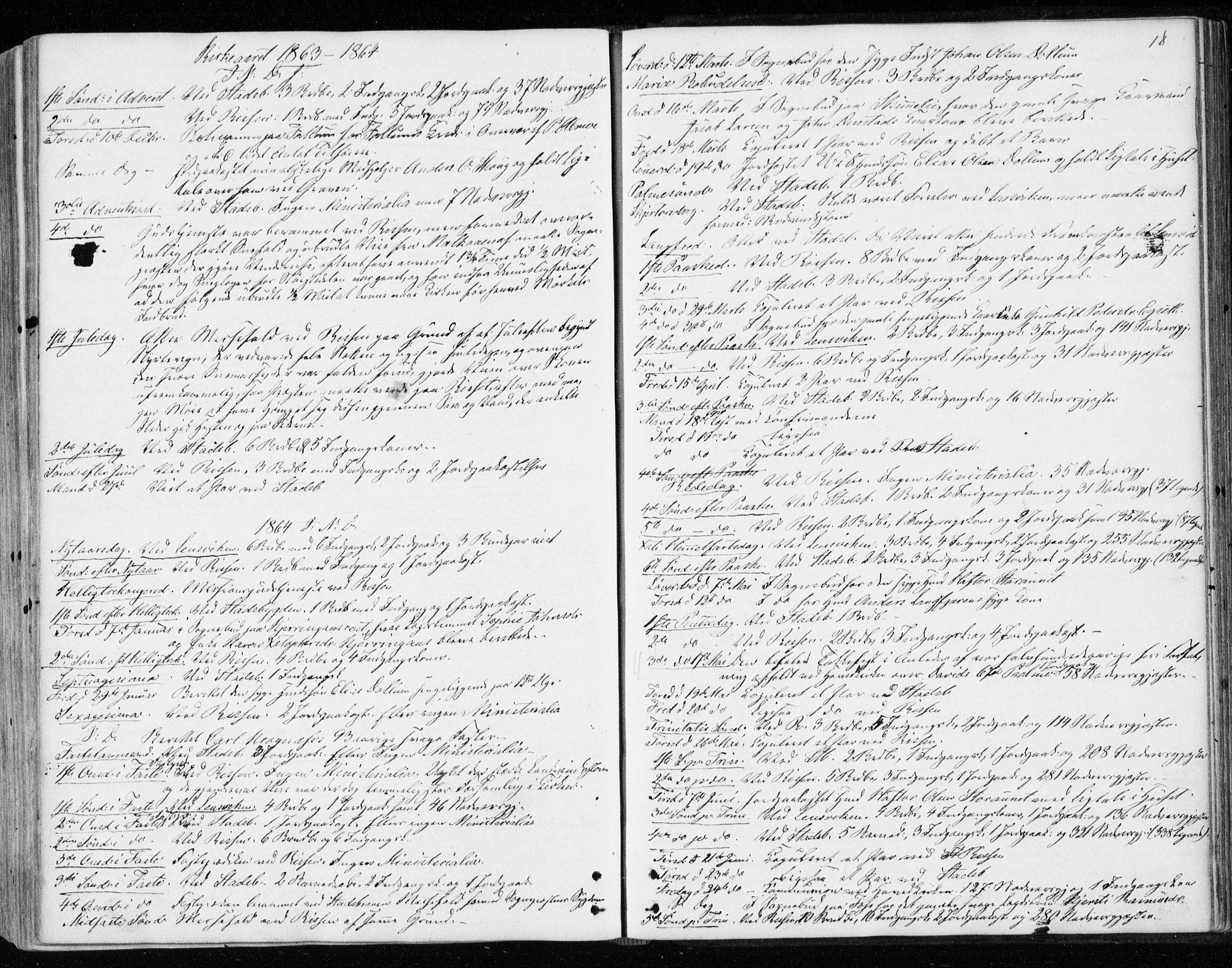 SAT, Ministerialprotokoller, klokkerbøker og fødselsregistre - Sør-Trøndelag, 646/L0612: Ministerialbok nr. 646A10, 1858-1869, s. 18