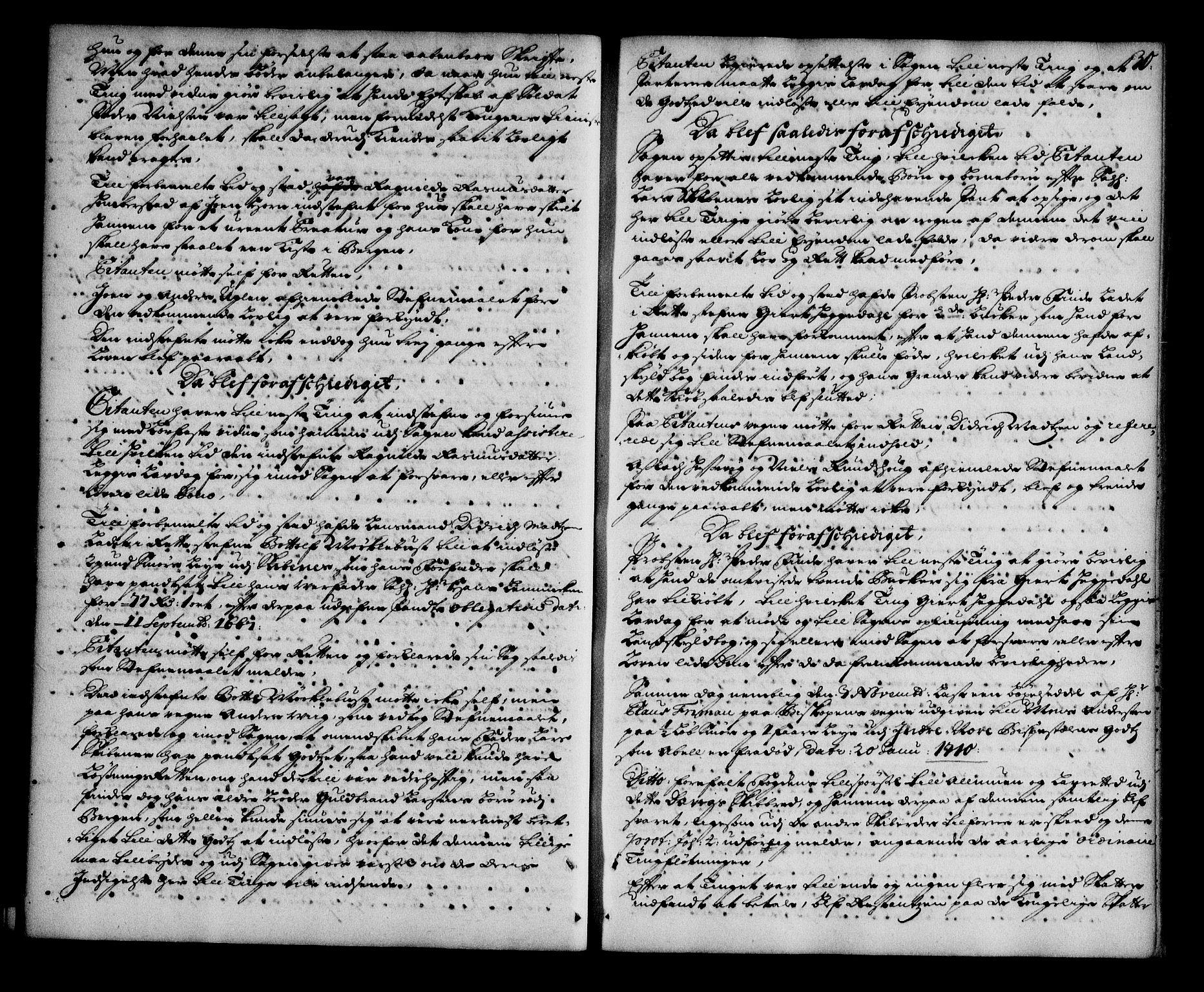 SAB, Nordfjord sorenskriveri, 01/01a/L0018: Tingbøker (justisprotokoller), 1711-1713, s. 29b-30a