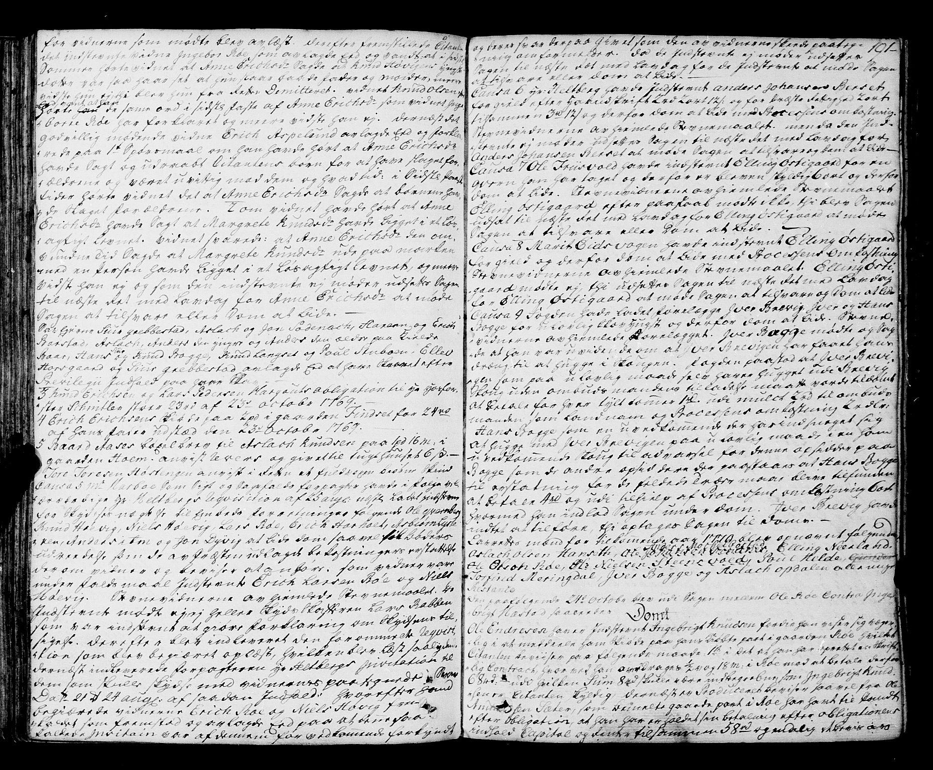 SAT, Romsdal sorenskriveri, 1/1A/L0015: Tingbok, 1765-1775, s. 190b-191a