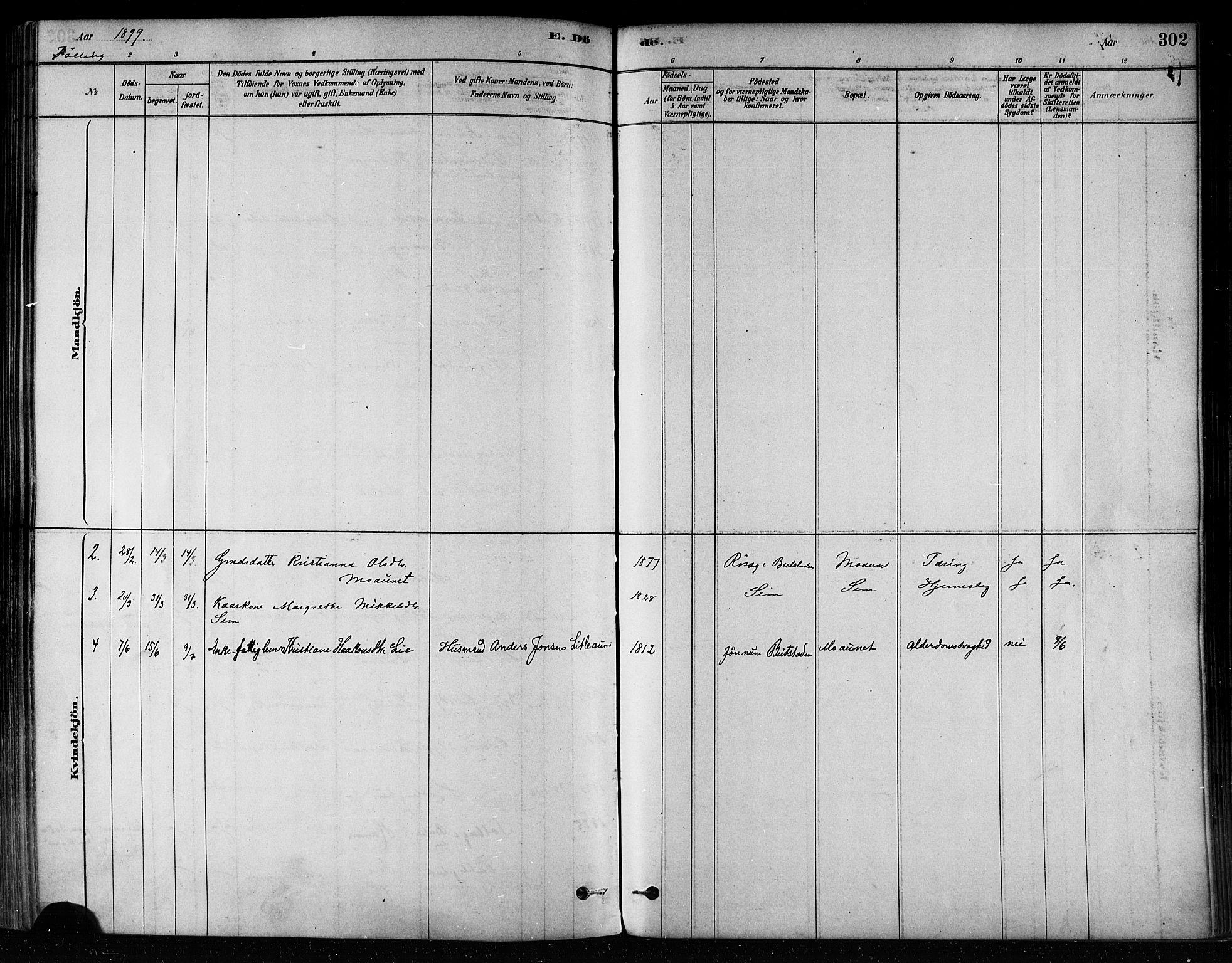 SAT, Ministerialprotokoller, klokkerbøker og fødselsregistre - Nord-Trøndelag, 746/L0449: Ministerialbok nr. 746A07 /3, 1878-1899, s. 302