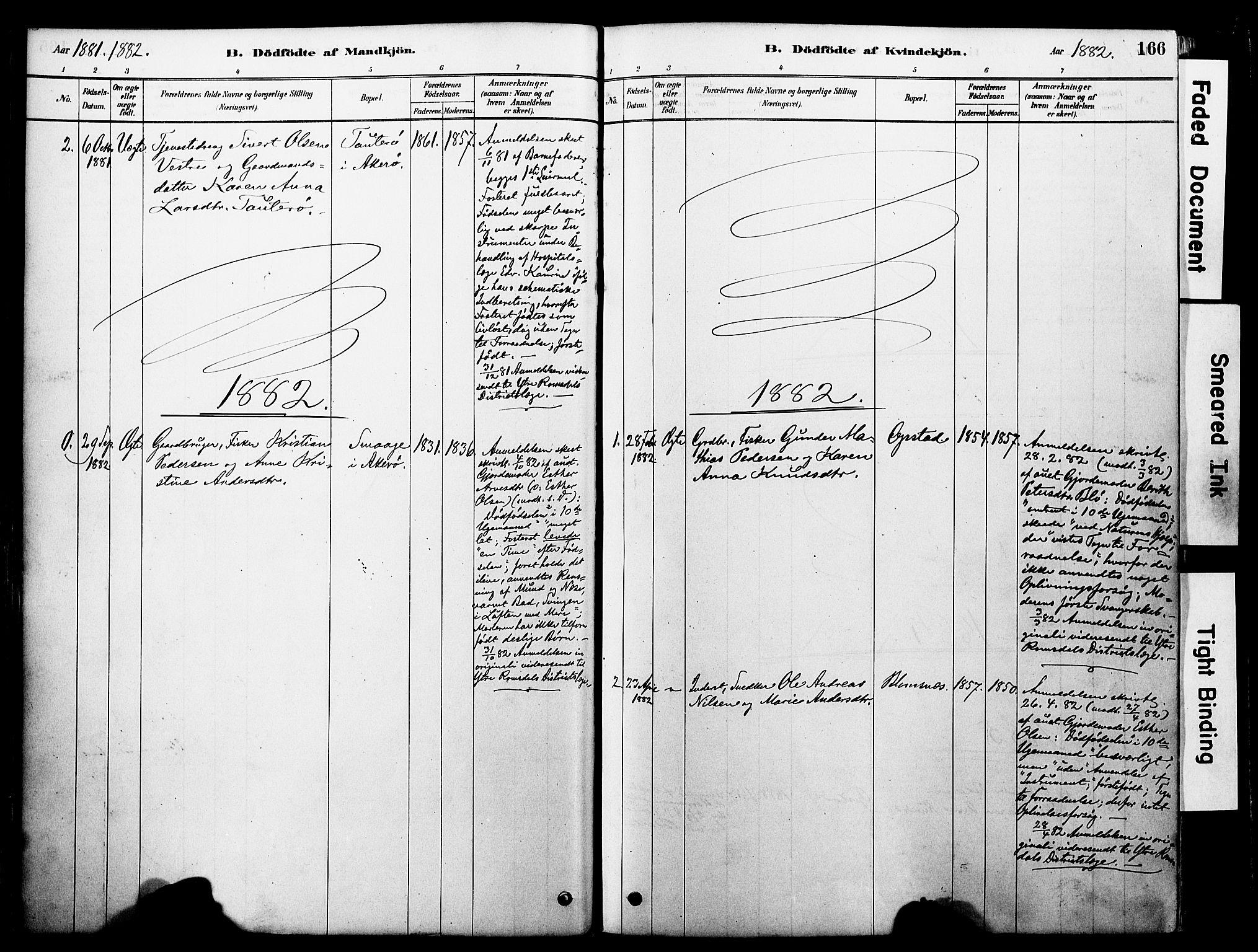 SAT, Ministerialprotokoller, klokkerbøker og fødselsregistre - Møre og Romsdal, 560/L0721: Ministerialbok nr. 560A05, 1878-1917, s. 166