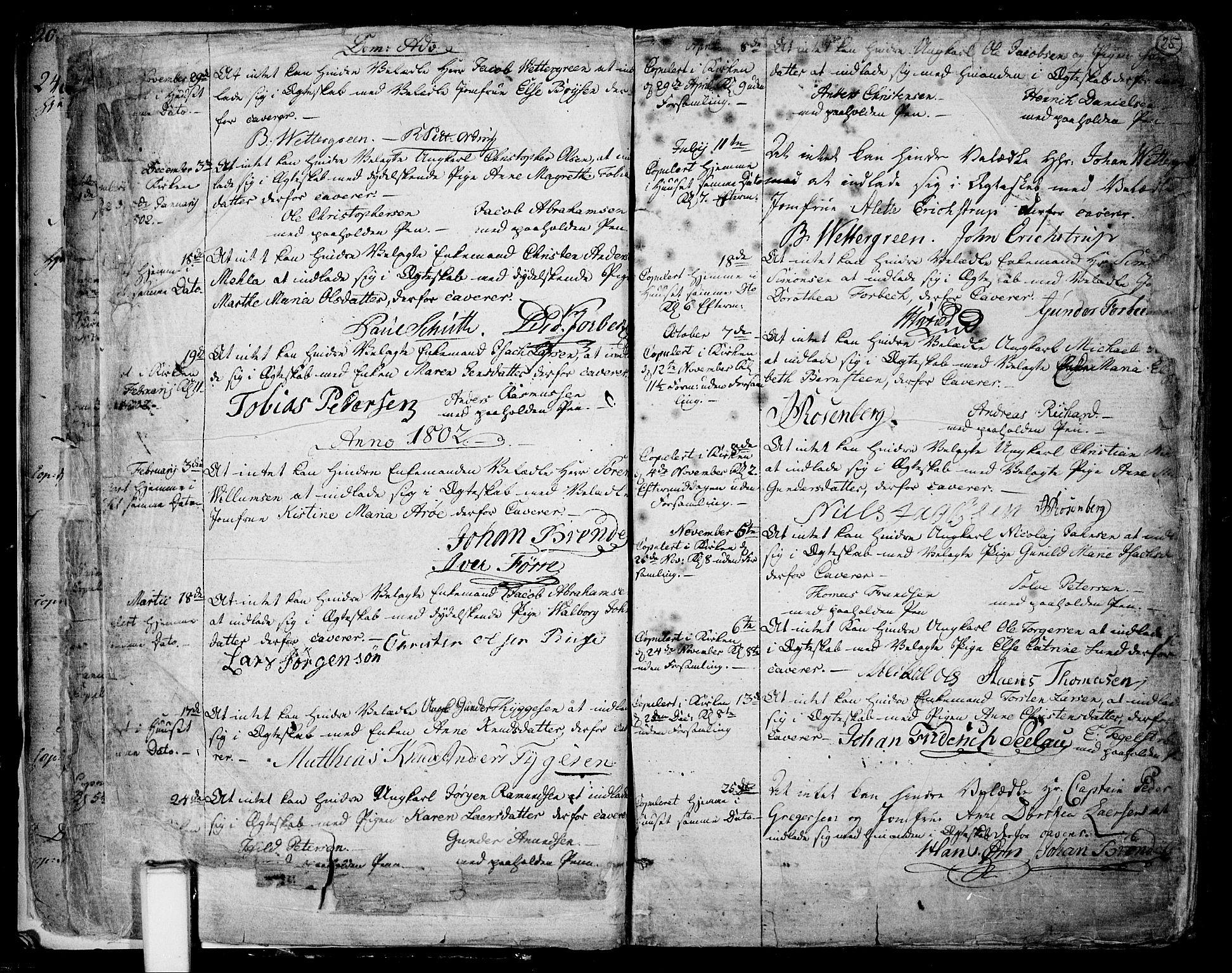 SAKO, Skien kirkebøker, F/Fa/L0004: Ministerialbok nr. 4, 1792-1814, s. 24-25