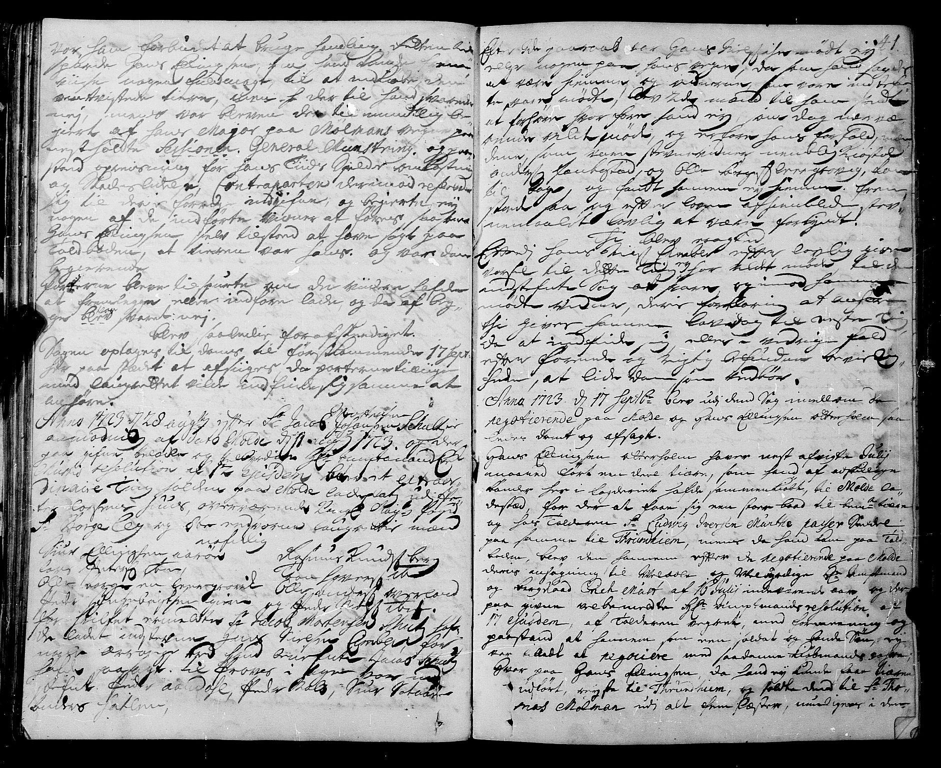 SAT, Romsdal sorenskriveri, 1/1A/L0009: Tingbok, 1722-1728, s. 40b-41a