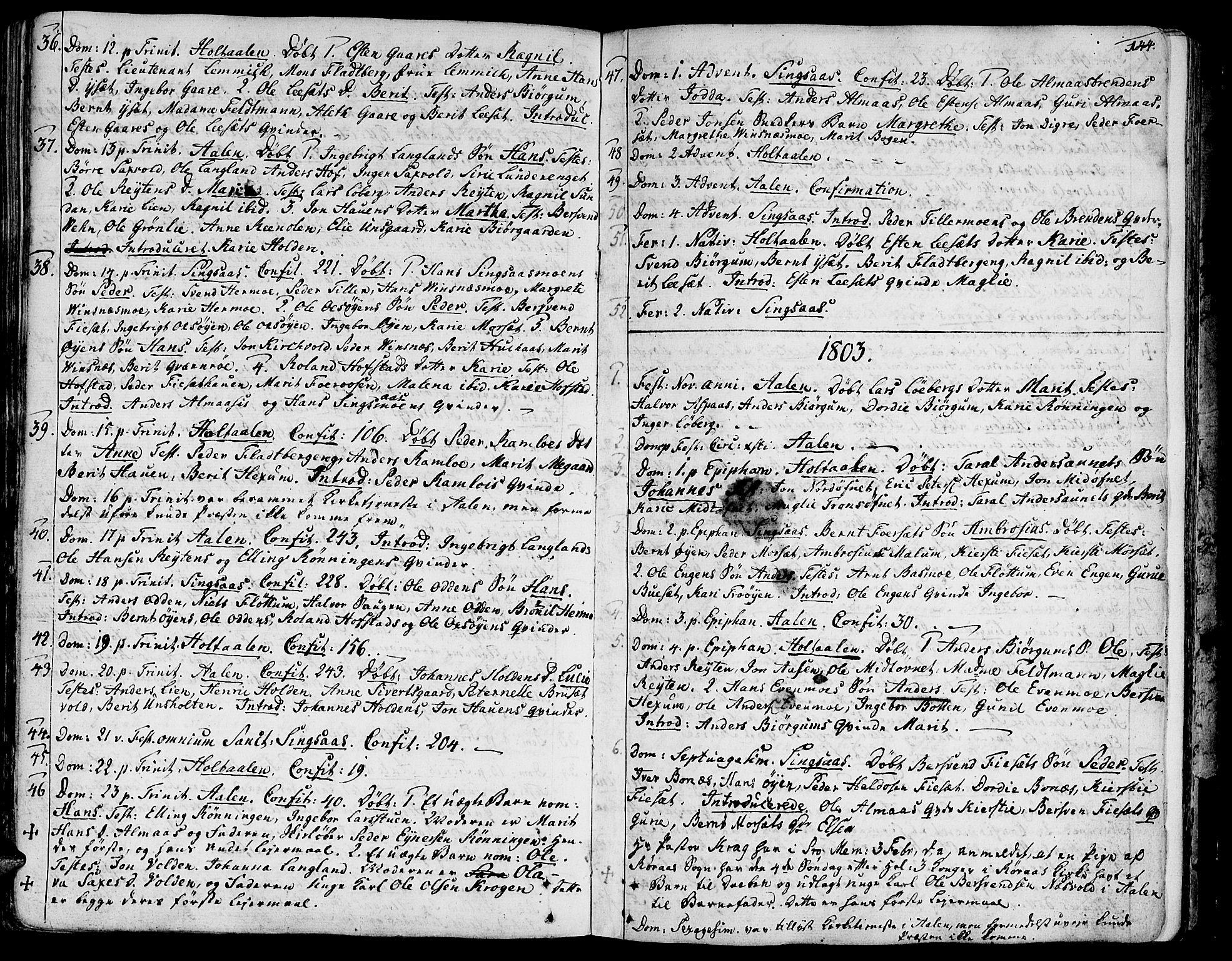SAT, Ministerialprotokoller, klokkerbøker og fødselsregistre - Sør-Trøndelag, 685/L0952: Ministerialbok nr. 685A01, 1745-1804, s. 144