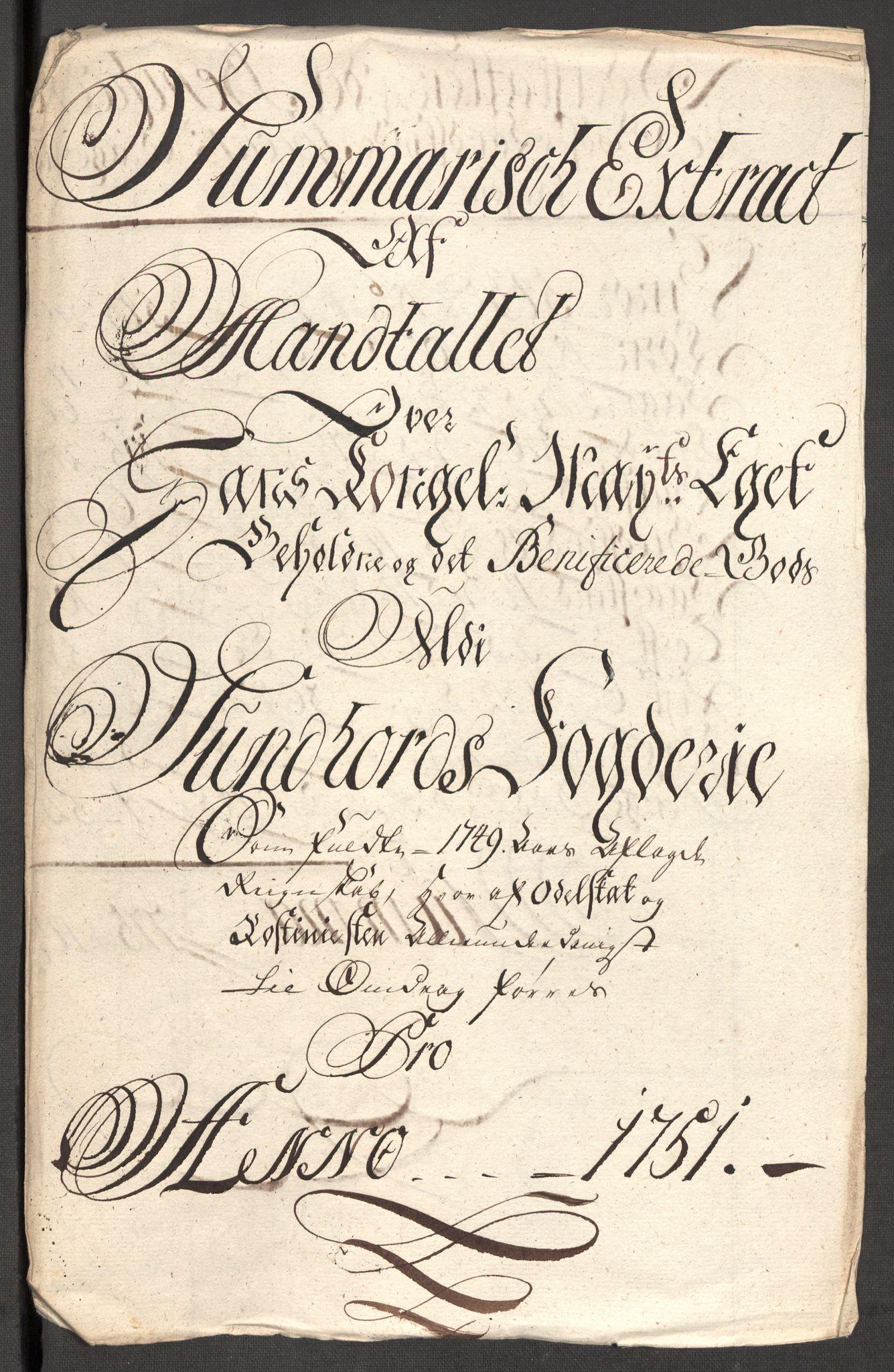 RA, Rentekammeret inntil 1814, Reviderte regnskaper, Fogderegnskap, R48/L3056: Fogderegnskap Sunnhordland og Hardanger, 1751, s. 324