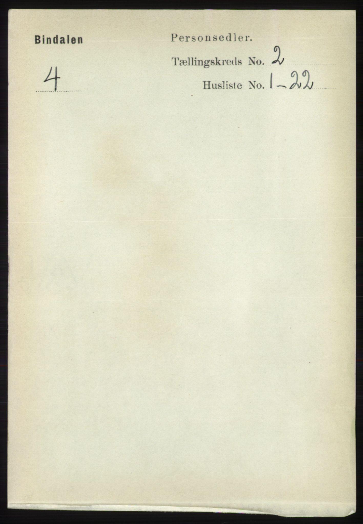 RA, Folketelling 1891 for 1811 Bindal herred, 1891, s. 279