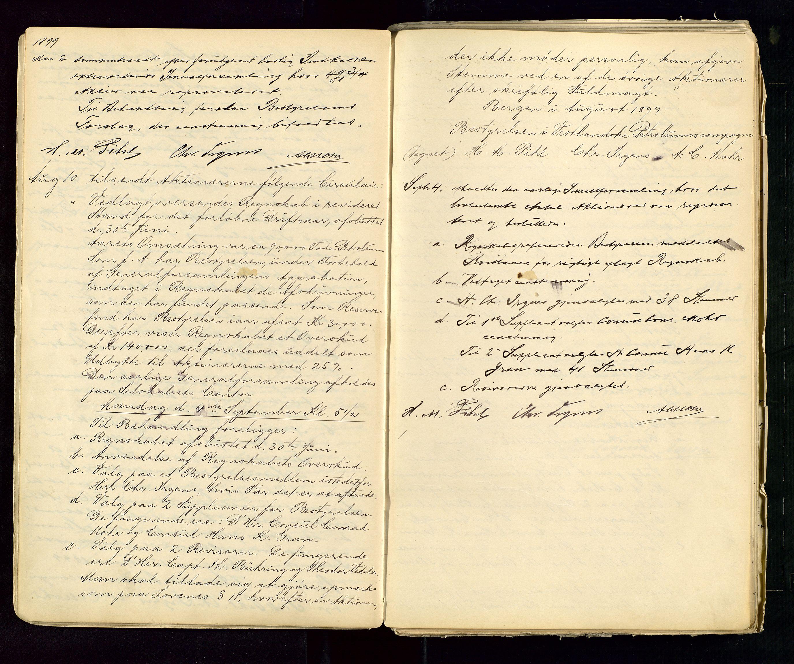 SAST, PA 1533 - A/S Vestlandske Petroleumscompani, A/Aa/L0001: Generalforsamlinger og styreprotokoller, 1890-1953, s. 23