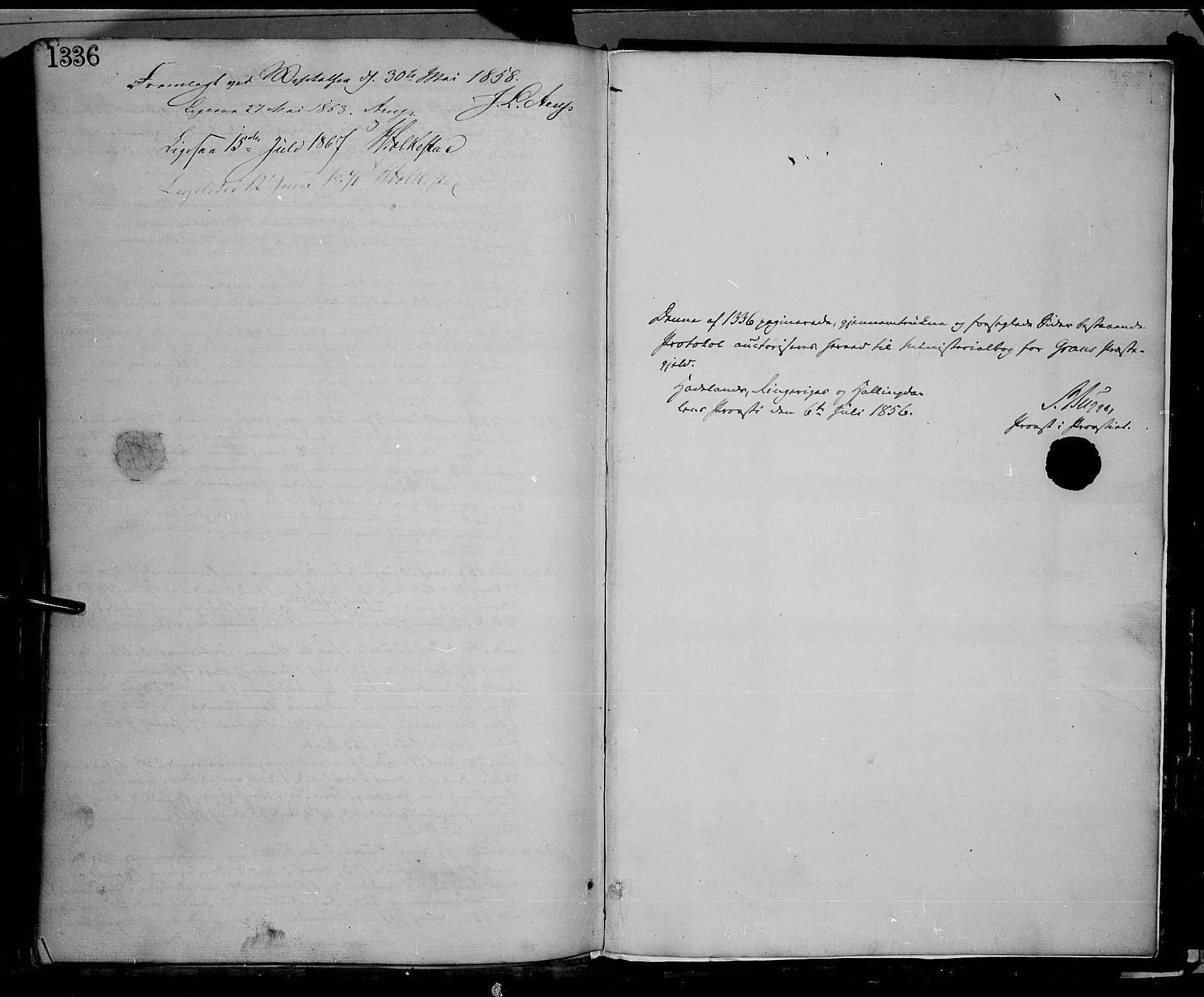 SAH, Gran prestekontor, Ministerialbok nr. 12, 1856-1874, s. 1336-1337