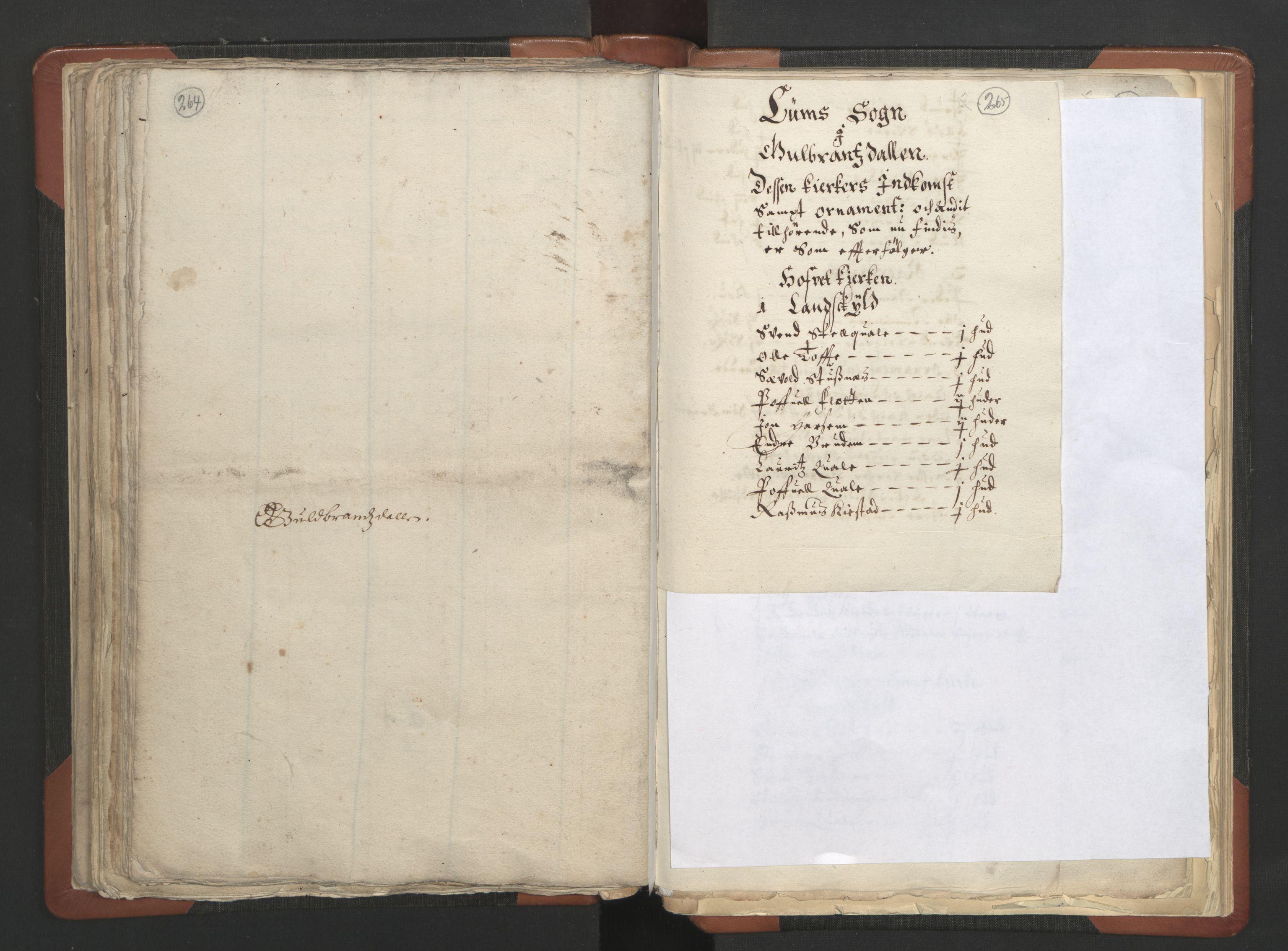 RA, Sogneprestenes manntall 1664-1666, nr. 6: Gudbrandsdal prosti, 1664-1666, s. 264-265