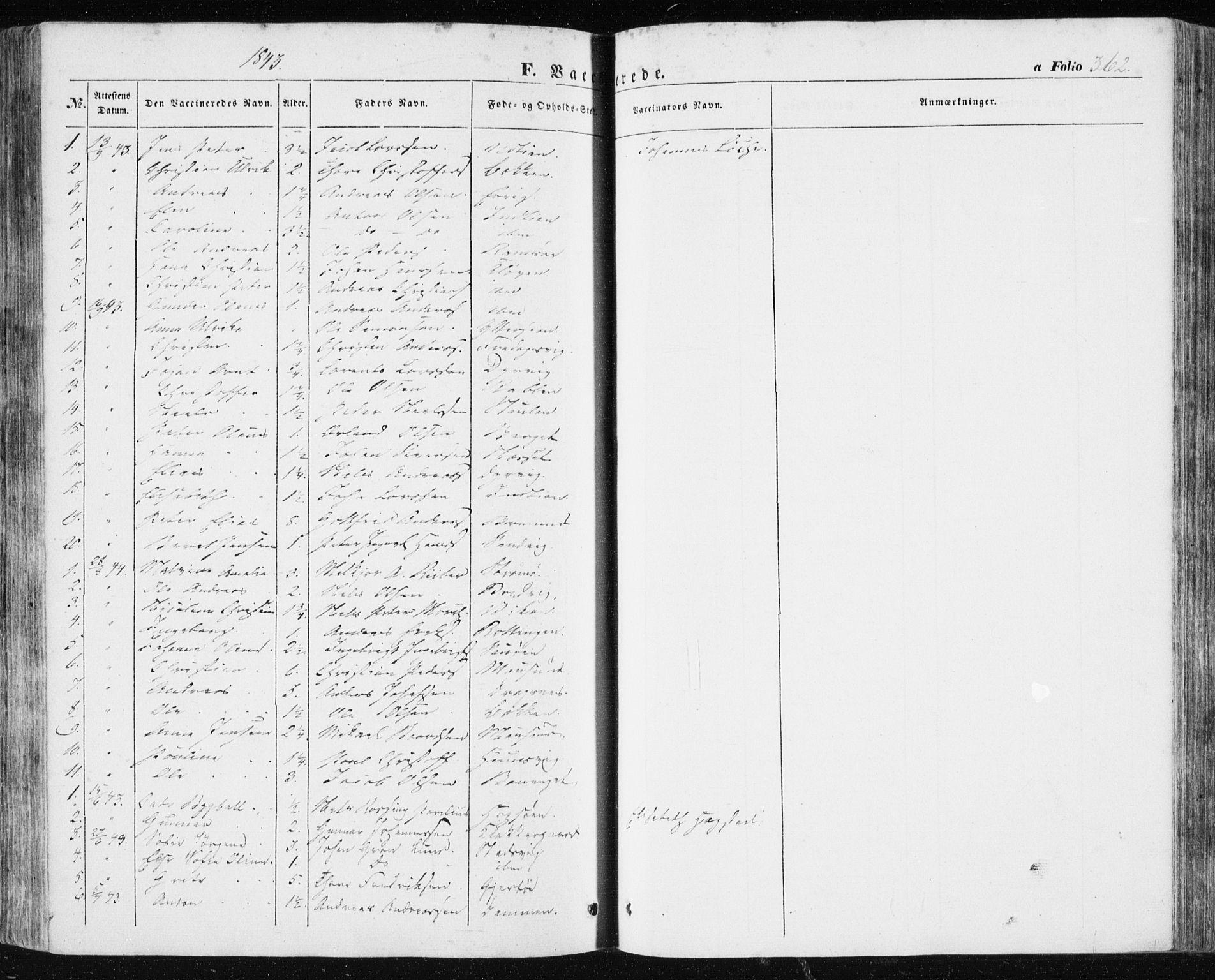 SAT, Ministerialprotokoller, klokkerbøker og fødselsregistre - Sør-Trøndelag, 634/L0529: Ministerialbok nr. 634A05, 1843-1851, s. 362