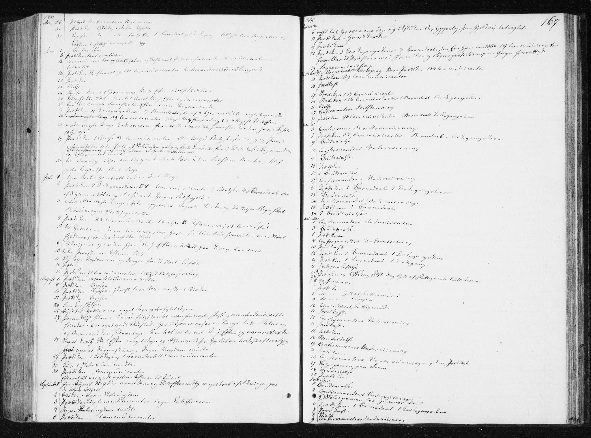 SAT, Ministerialprotokoller, klokkerbøker og fødselsregistre - Nord-Trøndelag, 749/L0470: Ministerialbok nr. 749A04, 1834-1853, s. 167