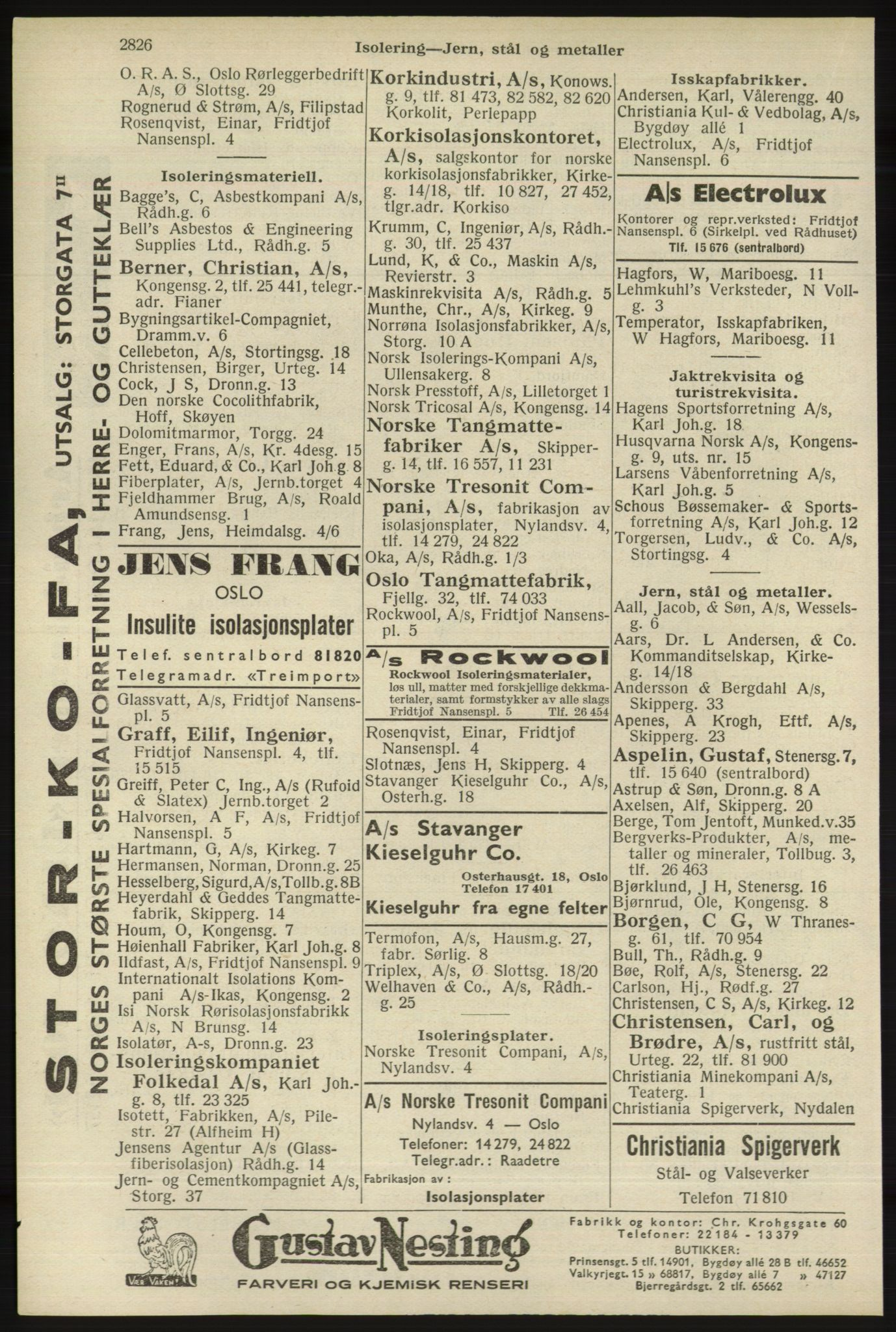 RA, Oslo adressebok (publikasjon)*, 1940, s. 2826