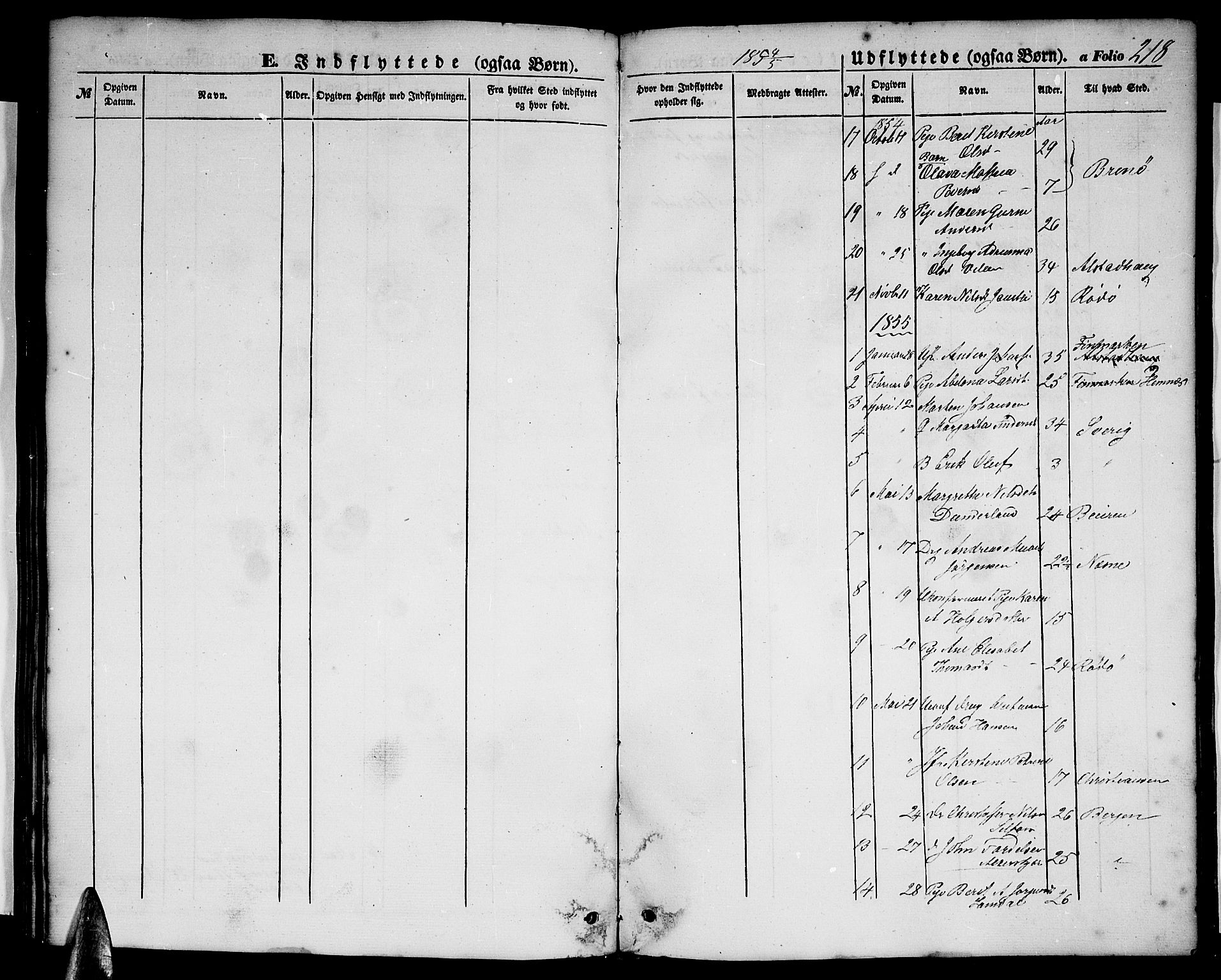 SAT, Ministerialprotokoller, klokkerbøker og fødselsregistre - Nordland, 827/L0414: Klokkerbok nr. 827C03, 1853-1865, s. 218