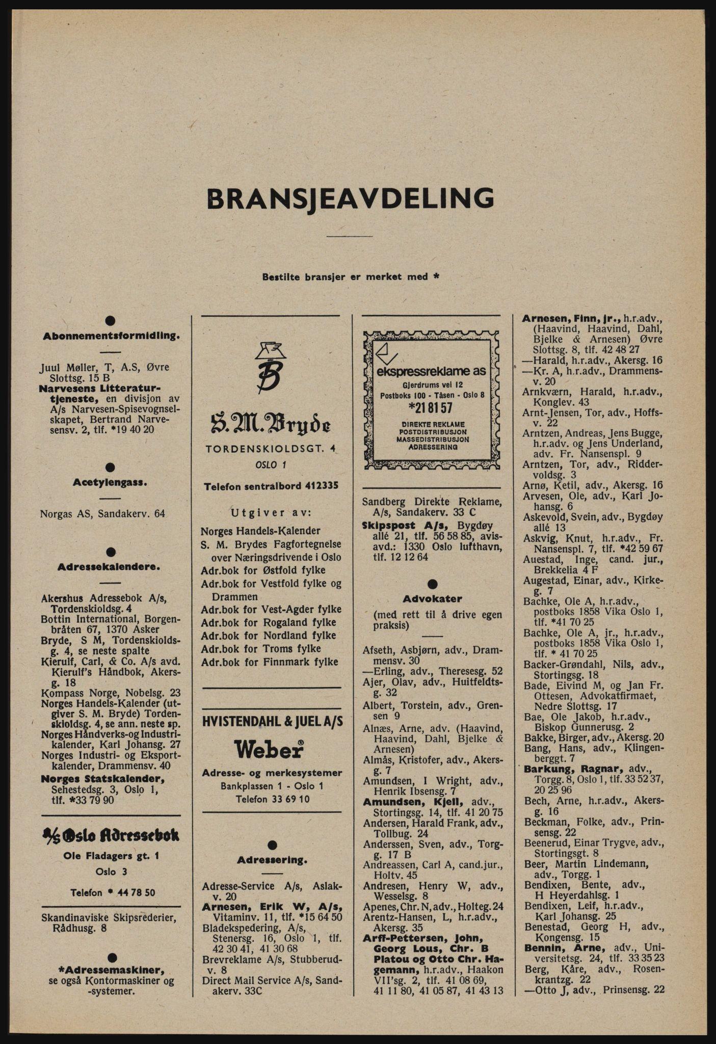 PUBL, Kristiania/Oslo adressebok, 1978-1979, s. 9