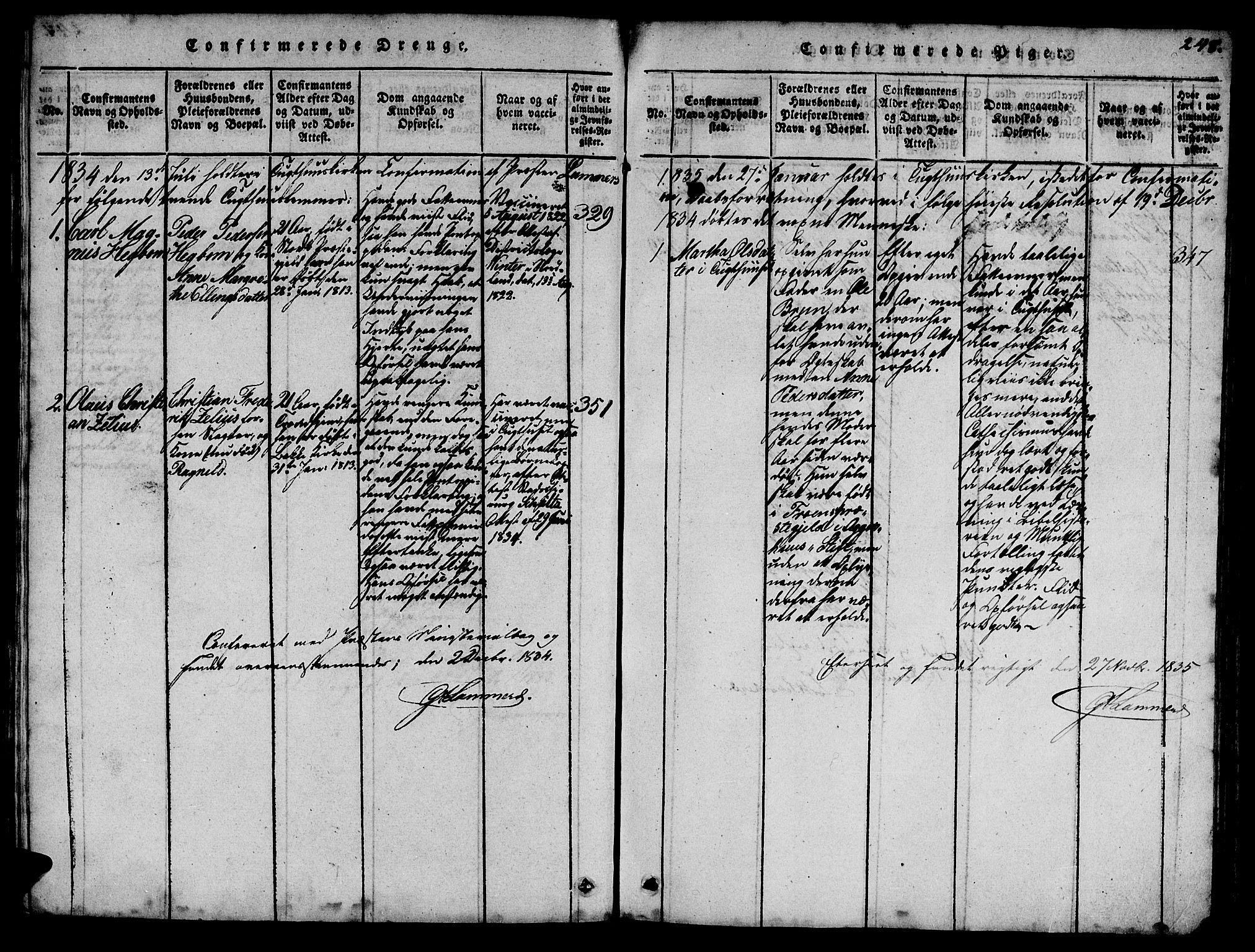 SAT, Ministerialprotokoller, klokkerbøker og fødselsregistre - Sør-Trøndelag, 623/L0478: Klokkerbok nr. 623C01, 1815-1873, s. 248