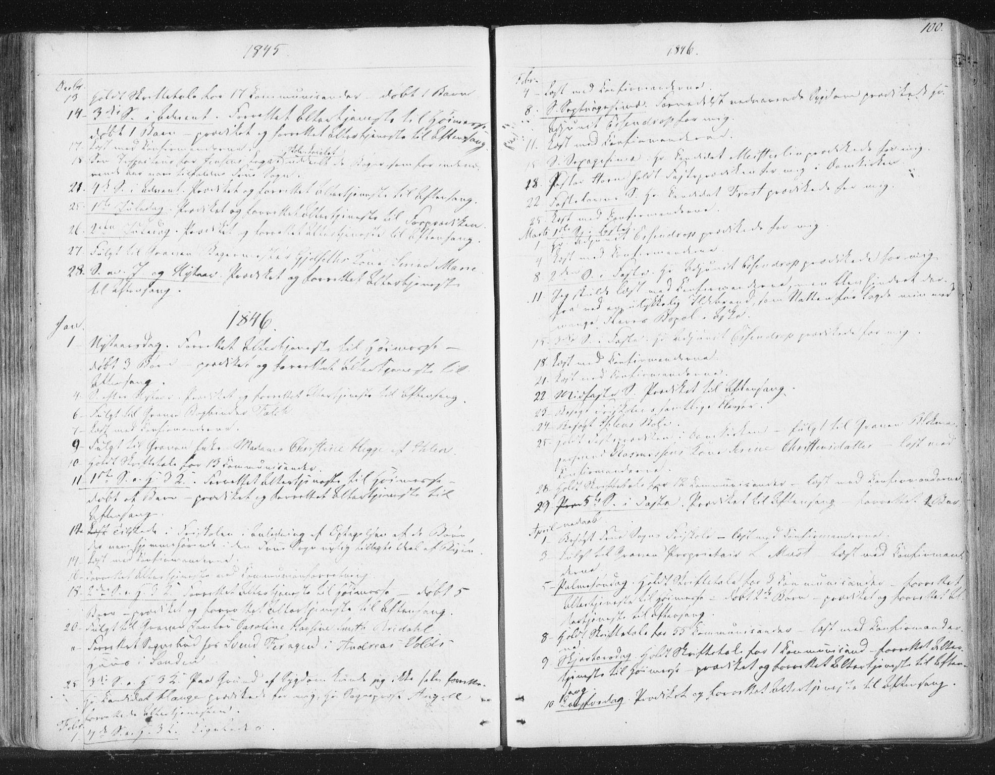 SAT, Ministerialprotokoller, klokkerbøker og fødselsregistre - Sør-Trøndelag, 602/L0127: Residerende kapellans bok nr. 602B01, 1821-1875, s. 100