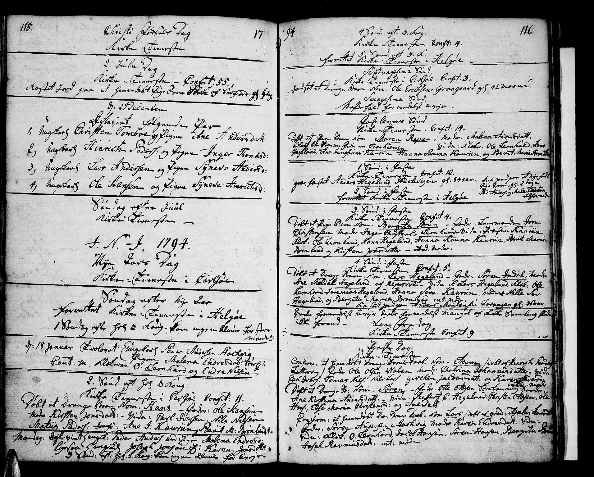 SATØ, Karlsøy sokneprestembete, Ministerialbok nr. 1, 1775-1823, s. 115-116