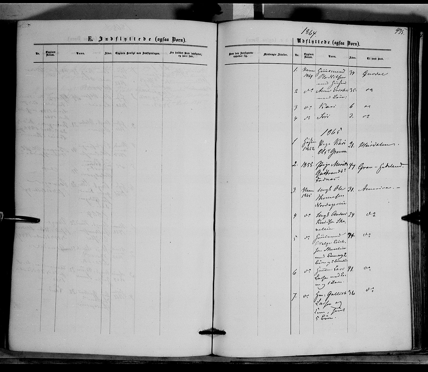 SAH, Nord-Aurdal prestekontor, Ministerialbok nr. 8, 1863-1875, s. 435