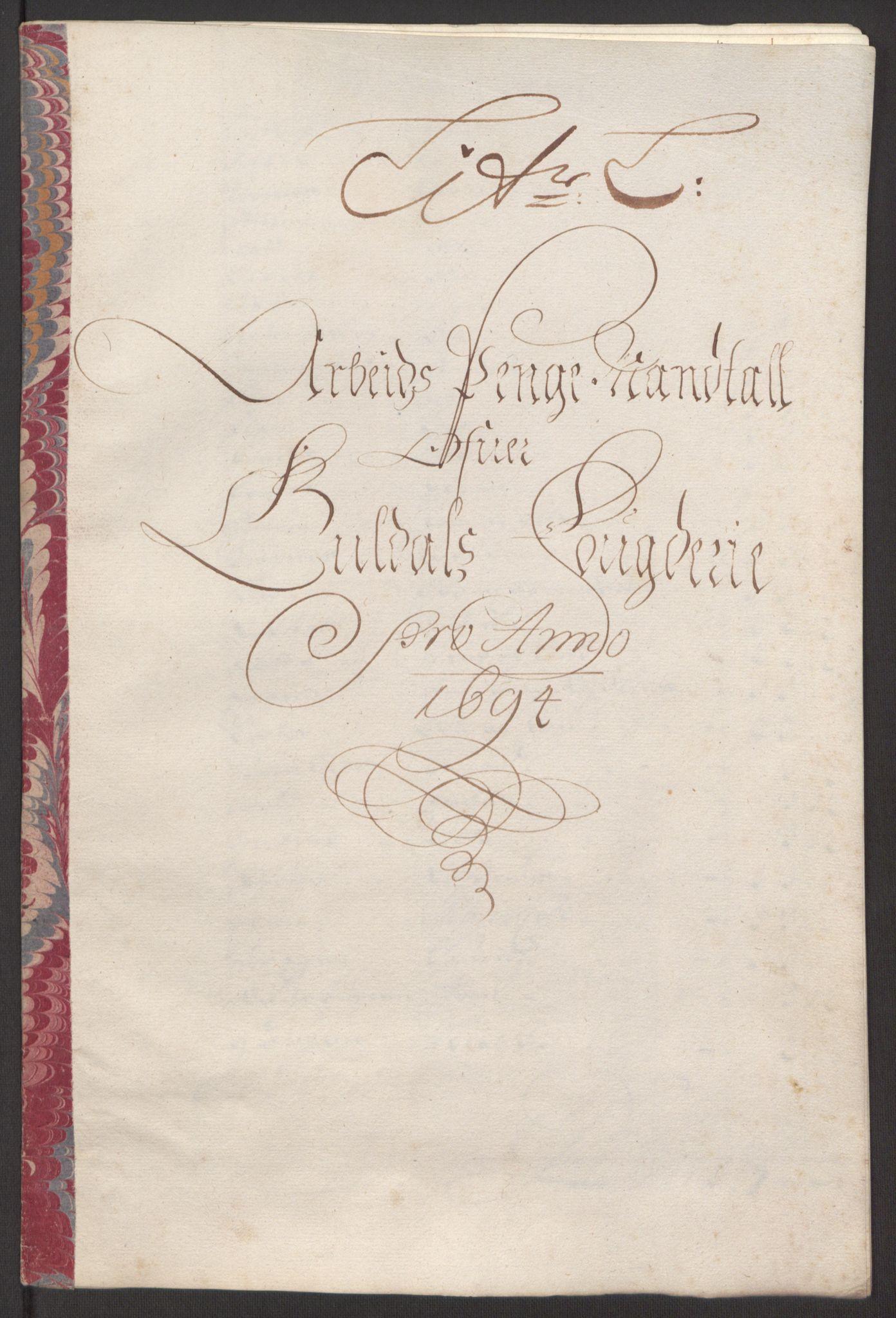 RA, Rentekammeret inntil 1814, Reviderte regnskaper, Fogderegnskap, R60/L3944: Fogderegnskap Orkdal og Gauldal, 1694, s. 391