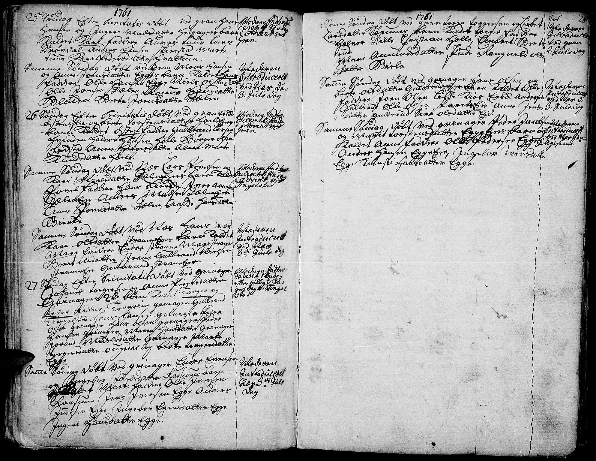 SAH, Gran prestekontor, Ministerialbok nr. 4, 1759-1775, s. 26