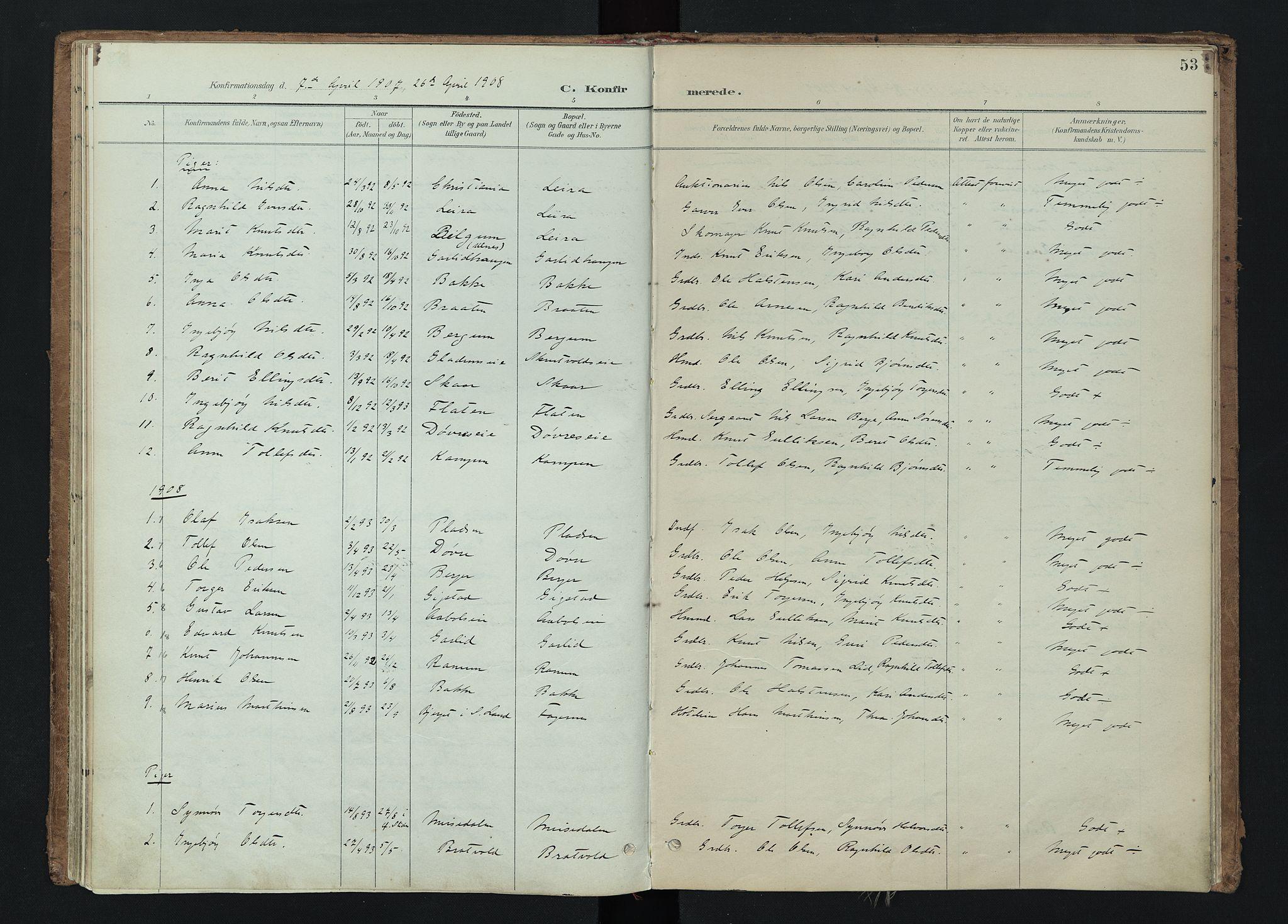 SAH, Nord-Aurdal prestekontor, Ministerialbok nr. 15, 1896-1914, s. 53