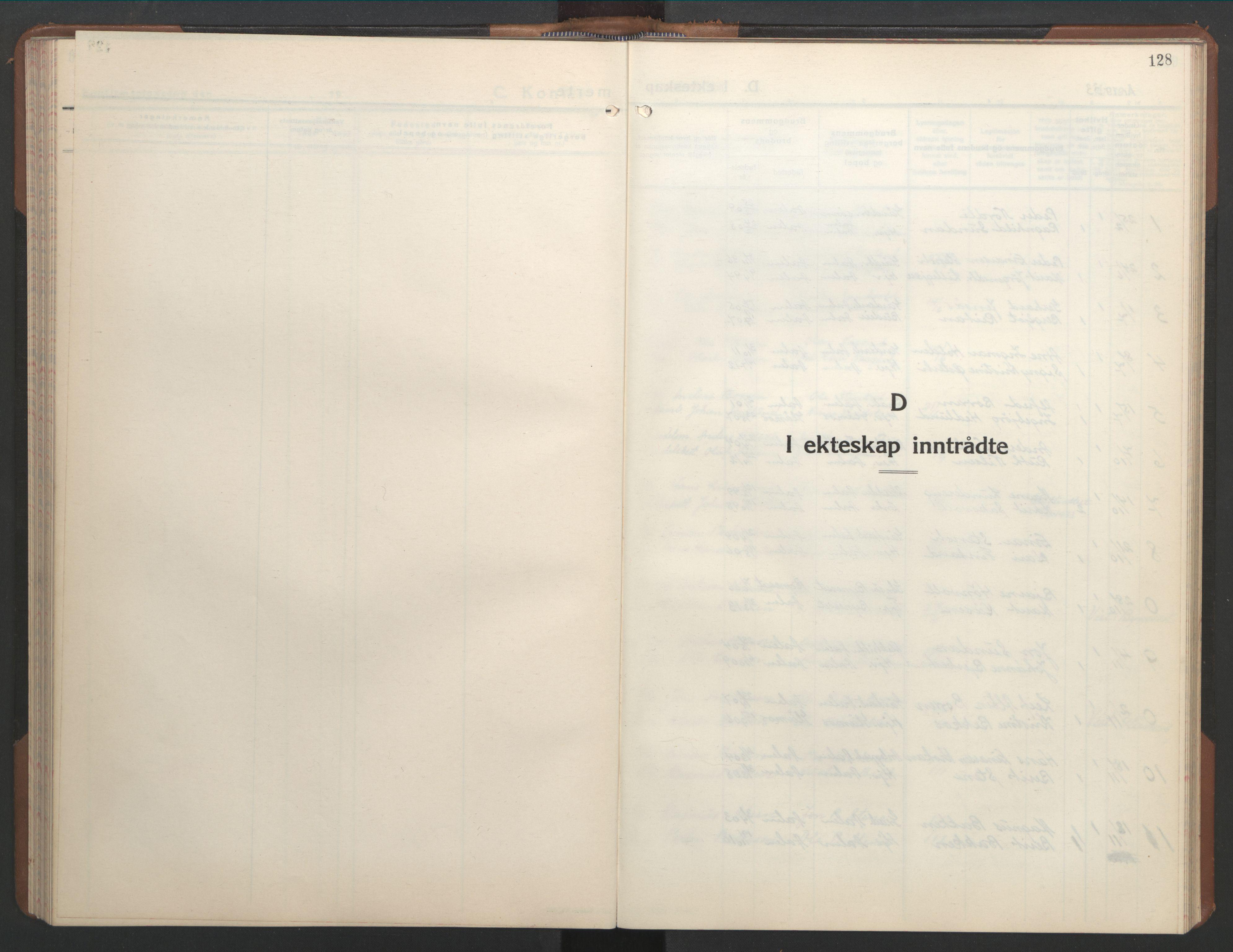 SAT, Ministerialprotokoller, klokkerbøker og fødselsregistre - Sør-Trøndelag, 686/L0986: Klokkerbok nr. 686C02, 1933-1950, s. 128