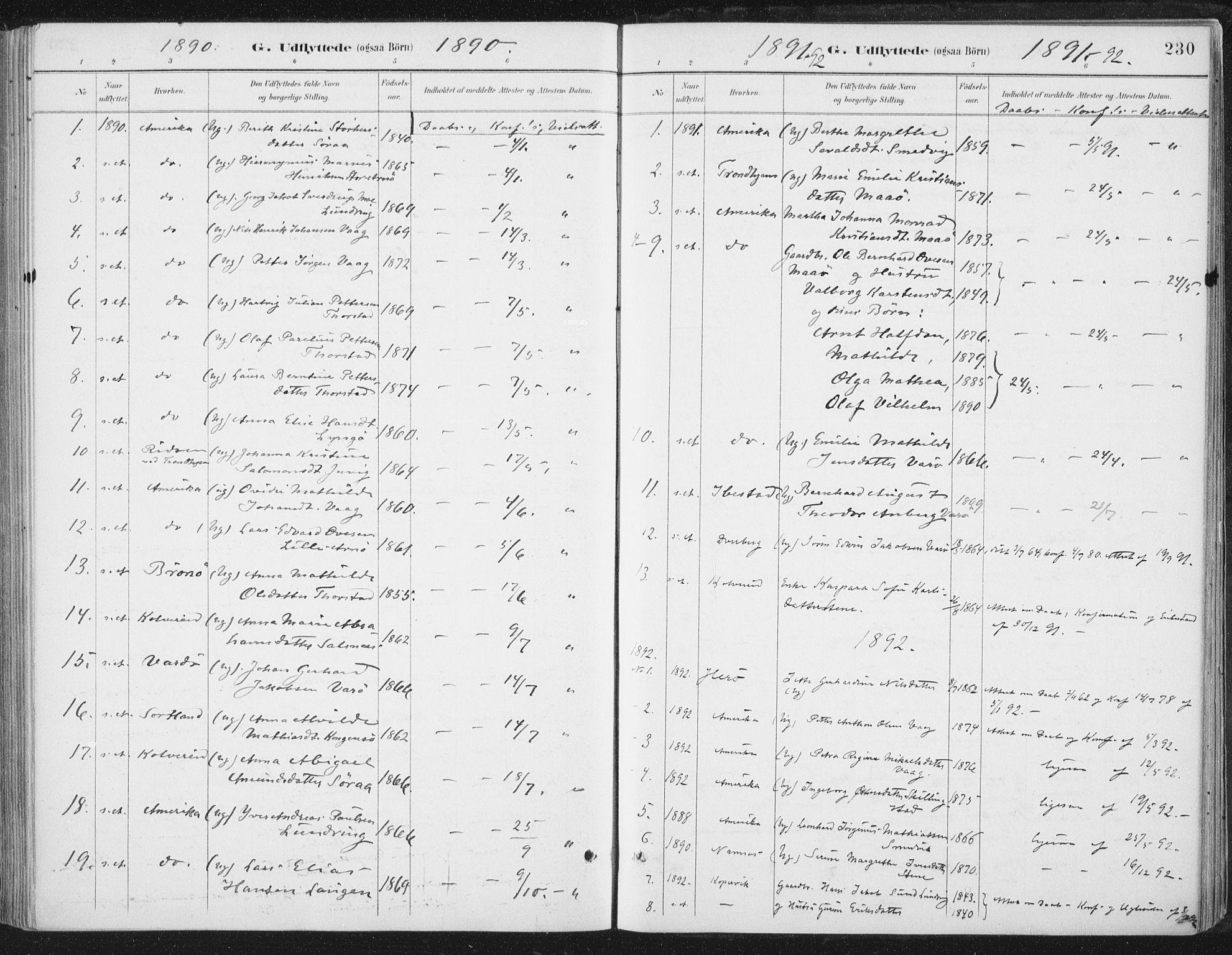 SAT, Ministerialprotokoller, klokkerbøker og fødselsregistre - Nord-Trøndelag, 784/L0673: Ministerialbok nr. 784A08, 1888-1899, s. 230