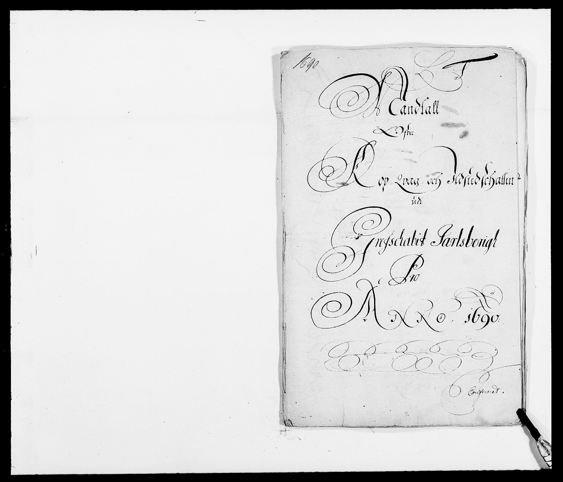 RA, Rentekammeret inntil 1814, Reviderte regnskaper, Fogderegnskap, R32/L1861: Fogderegnskap Jarlsberg grevskap, 1686-1690, s. 329