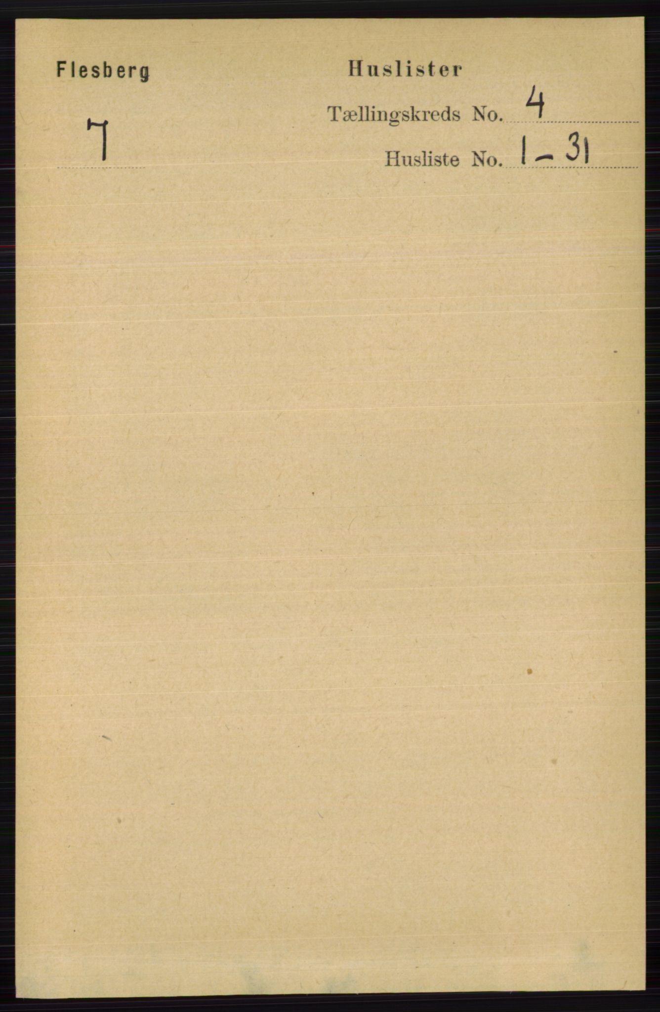 RA, Folketelling 1891 for 0631 Flesberg herred, 1891, s. 486