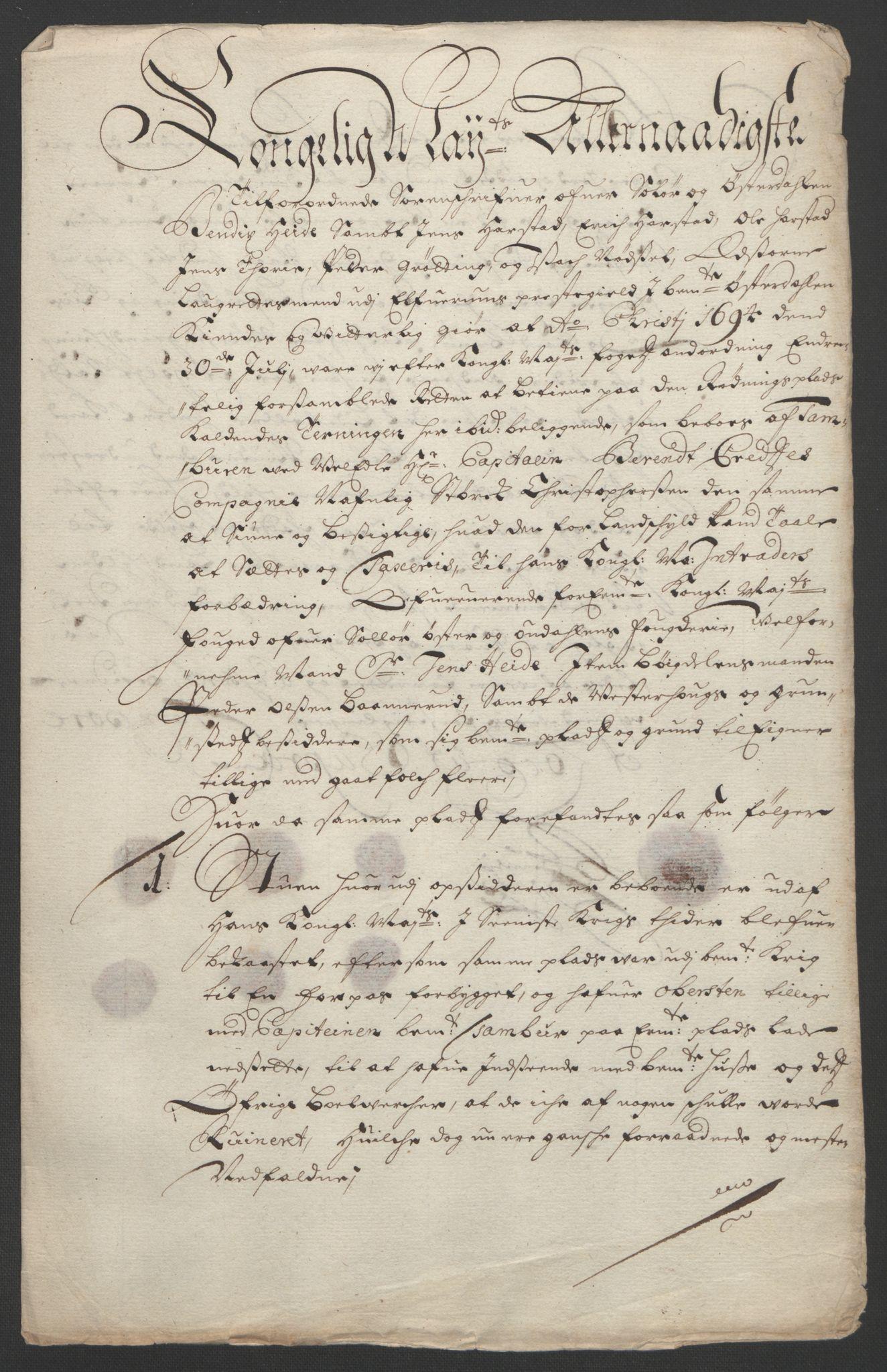 RA, Rentekammeret inntil 1814, Reviderte regnskaper, Fogderegnskap, R13/L0832: Fogderegnskap Solør, Odal og Østerdal, 1694, s. 243