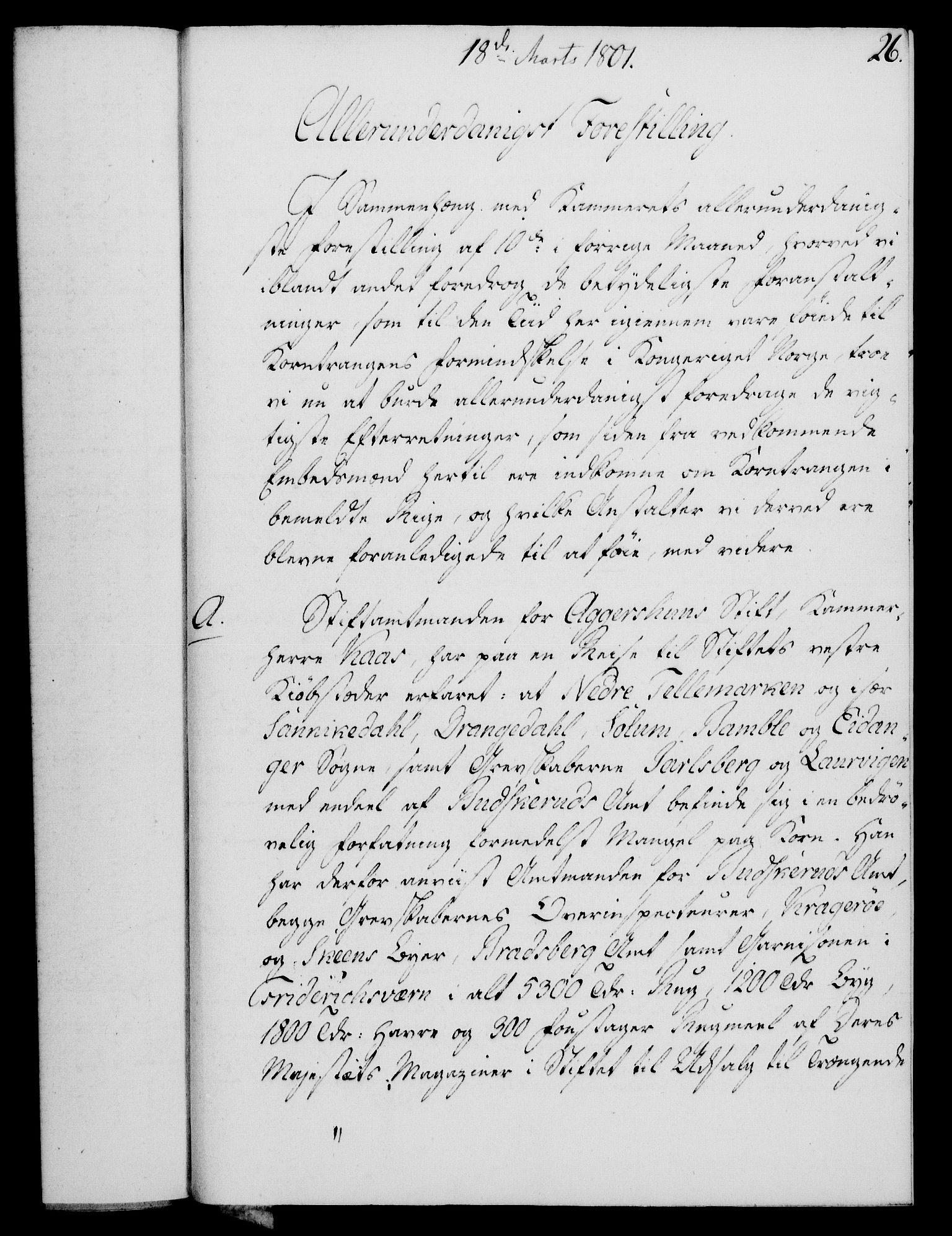 RA, Rentekammeret, Kammerkanselliet, G/Gf/Gfa/L0083: Norsk relasjons- og resolusjonsprotokoll (merket RK 52.83), 1801, s. 185