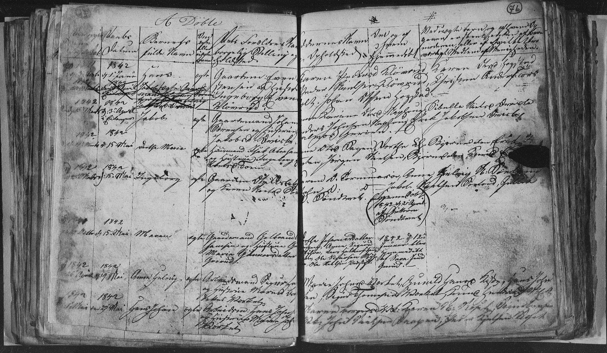 SAKO, Siljan kirkebøker, G/Ga/L0001: Klokkerbok nr. 1, 1827-1847, s. 76