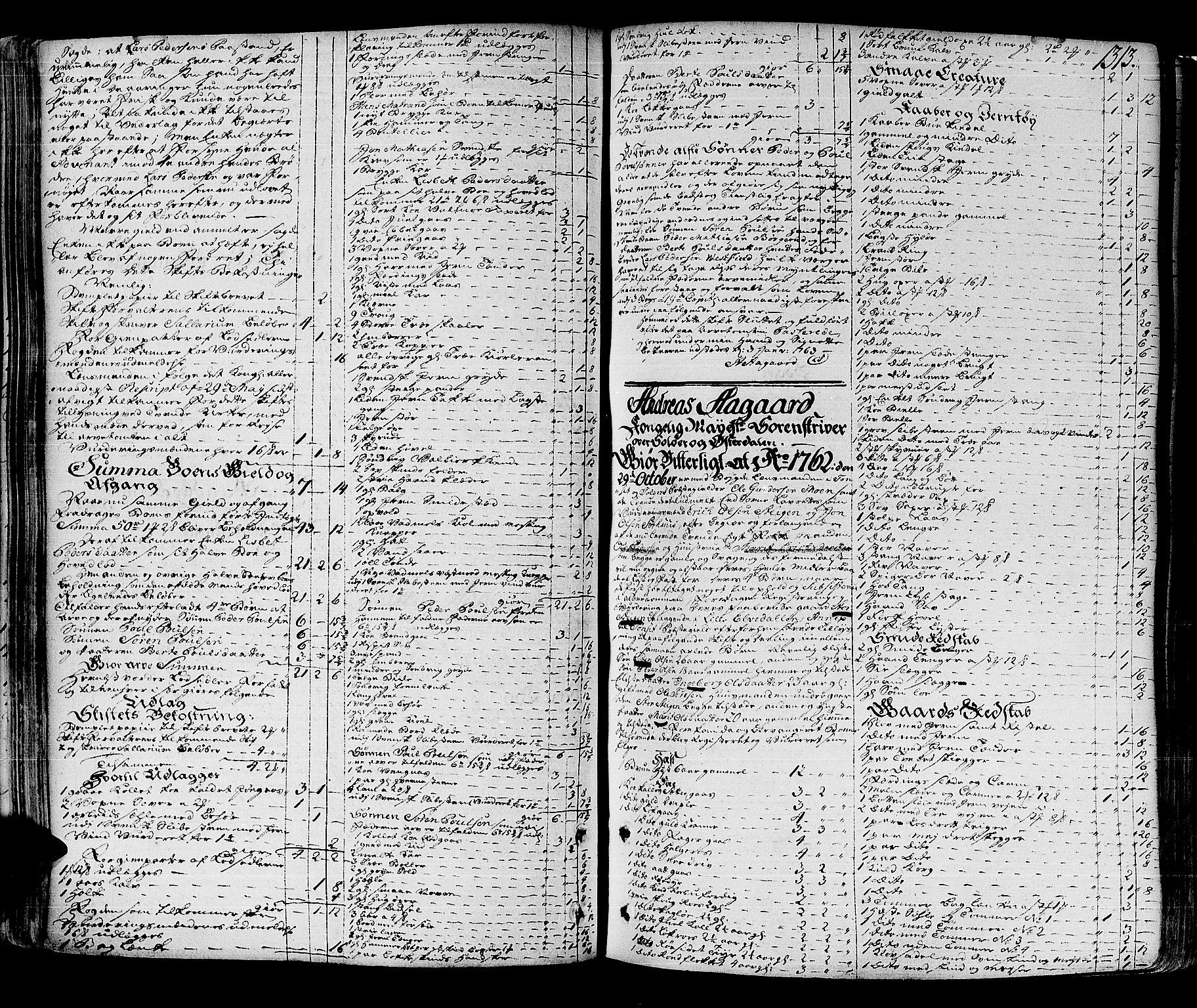 SAH, Solør og Østerdalen sorenskriveri, J/Ja/L0012A: Skifteprotokoll, 1757-1764, s. 1312b-1313a