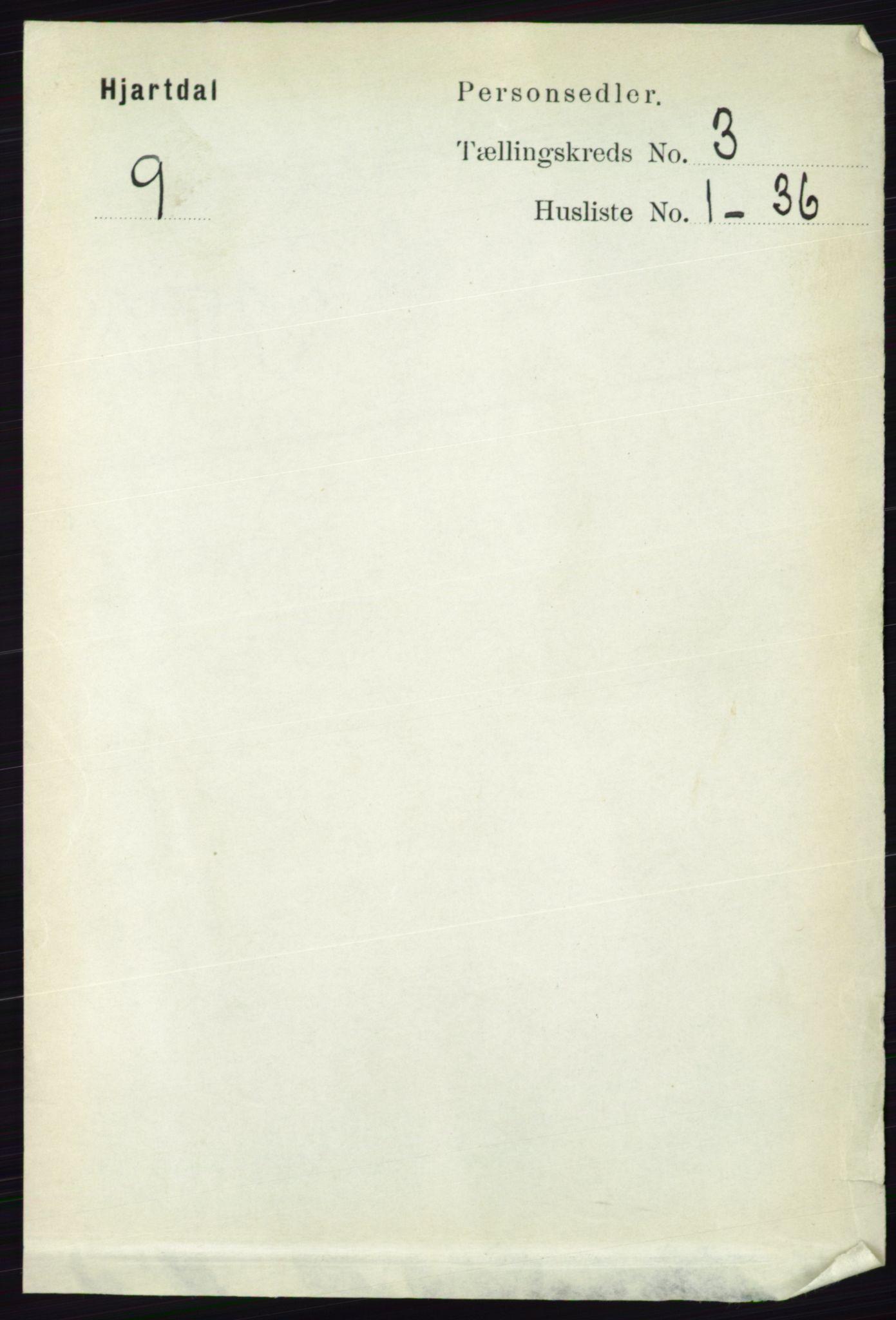 RA, Folketelling 1891 for 0827 Hjartdal herred, 1891, s. 1050