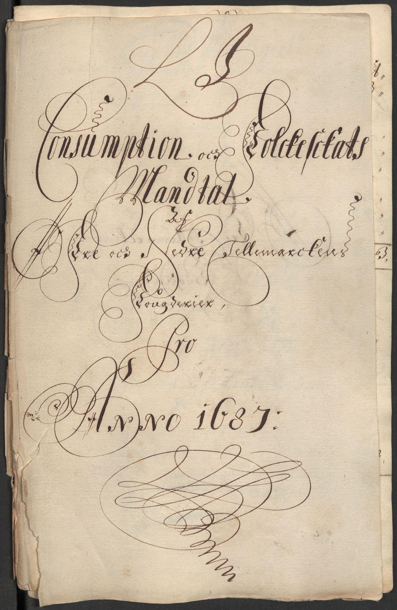RA, Rentekammeret inntil 1814, Reviderte regnskaper, Fogderegnskap, R35/L2086: Fogderegnskap Øvre og Nedre Telemark, 1687-1689, s. 129